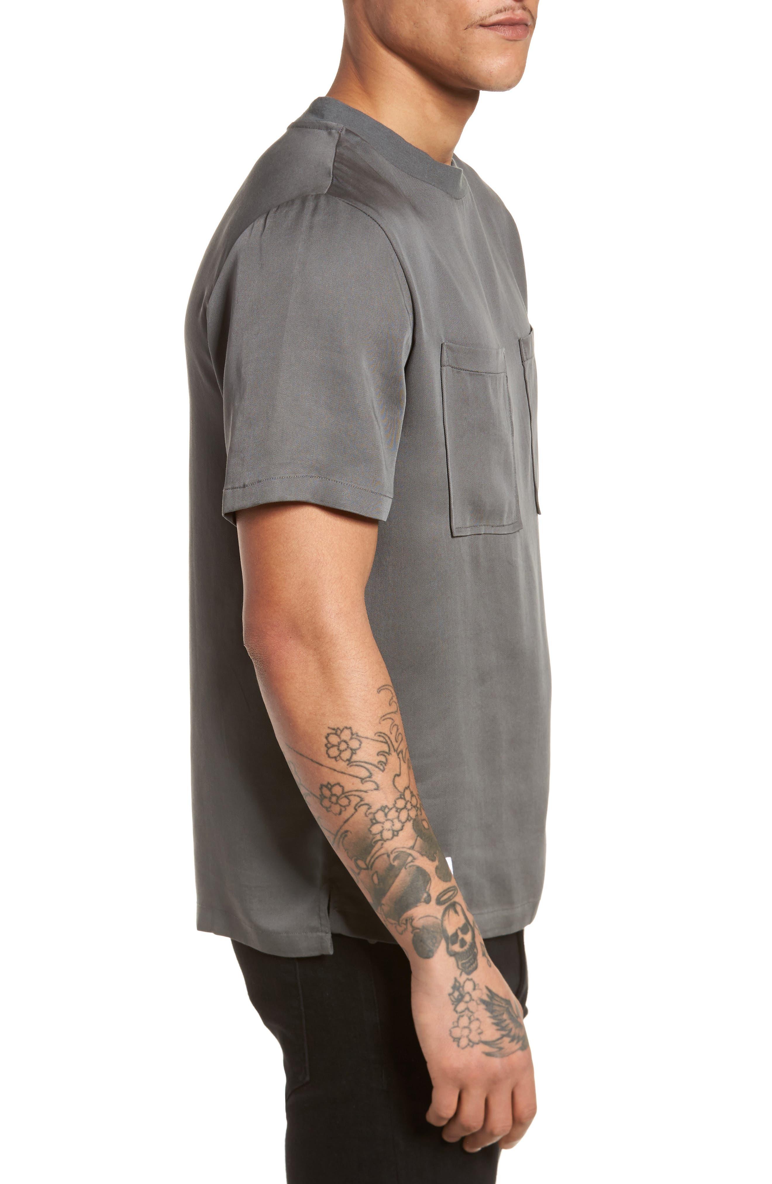 Denali Woven T-Shirt,                             Alternate thumbnail 3, color,                             Grey