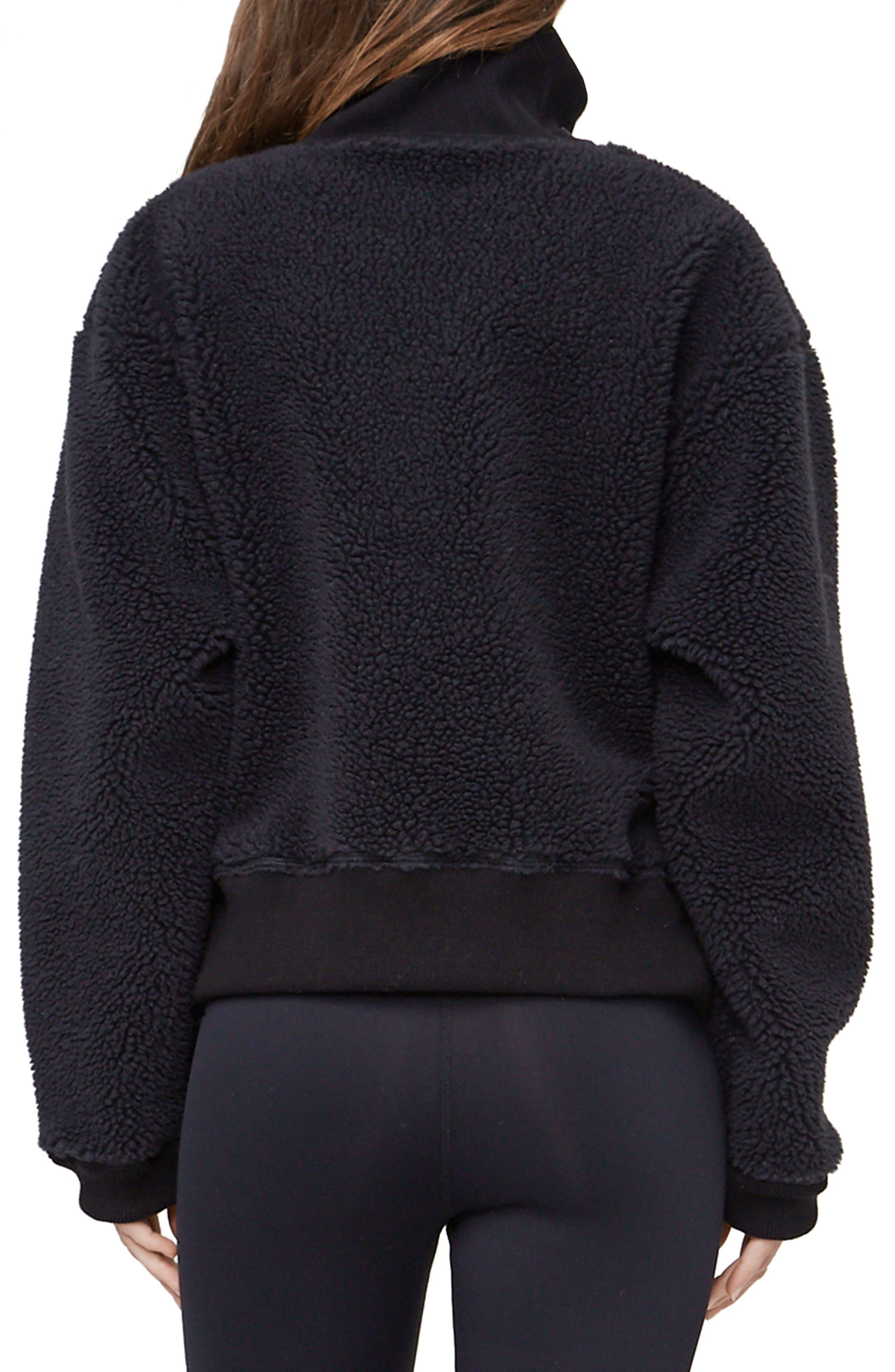 Daphne Fleece Pullover,                             Alternate thumbnail 2, color,                             Black