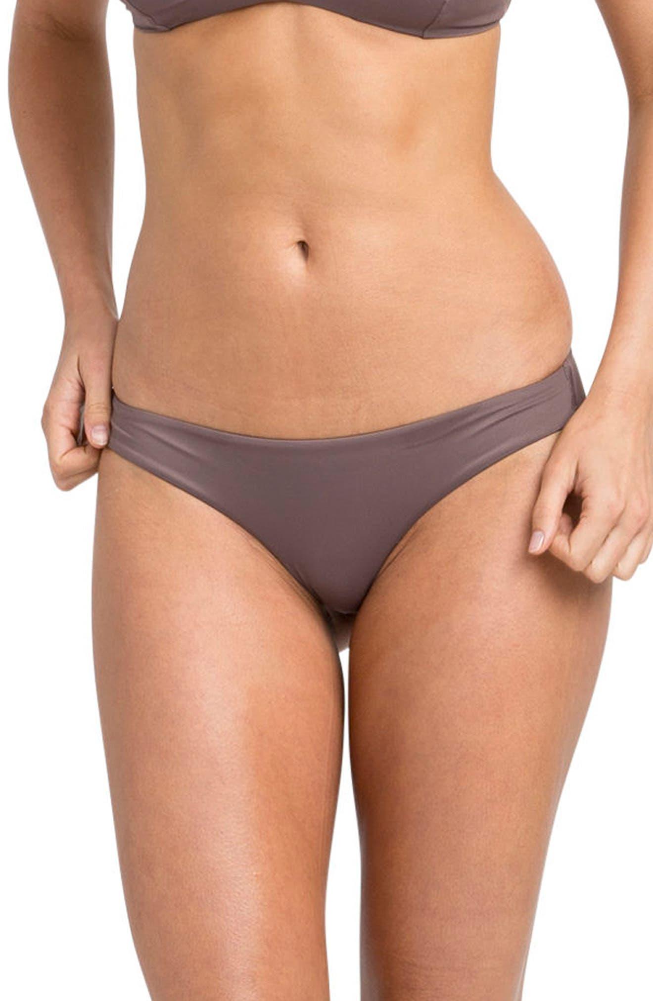 RVCA Solid Full Hipster Bikini Bottoms