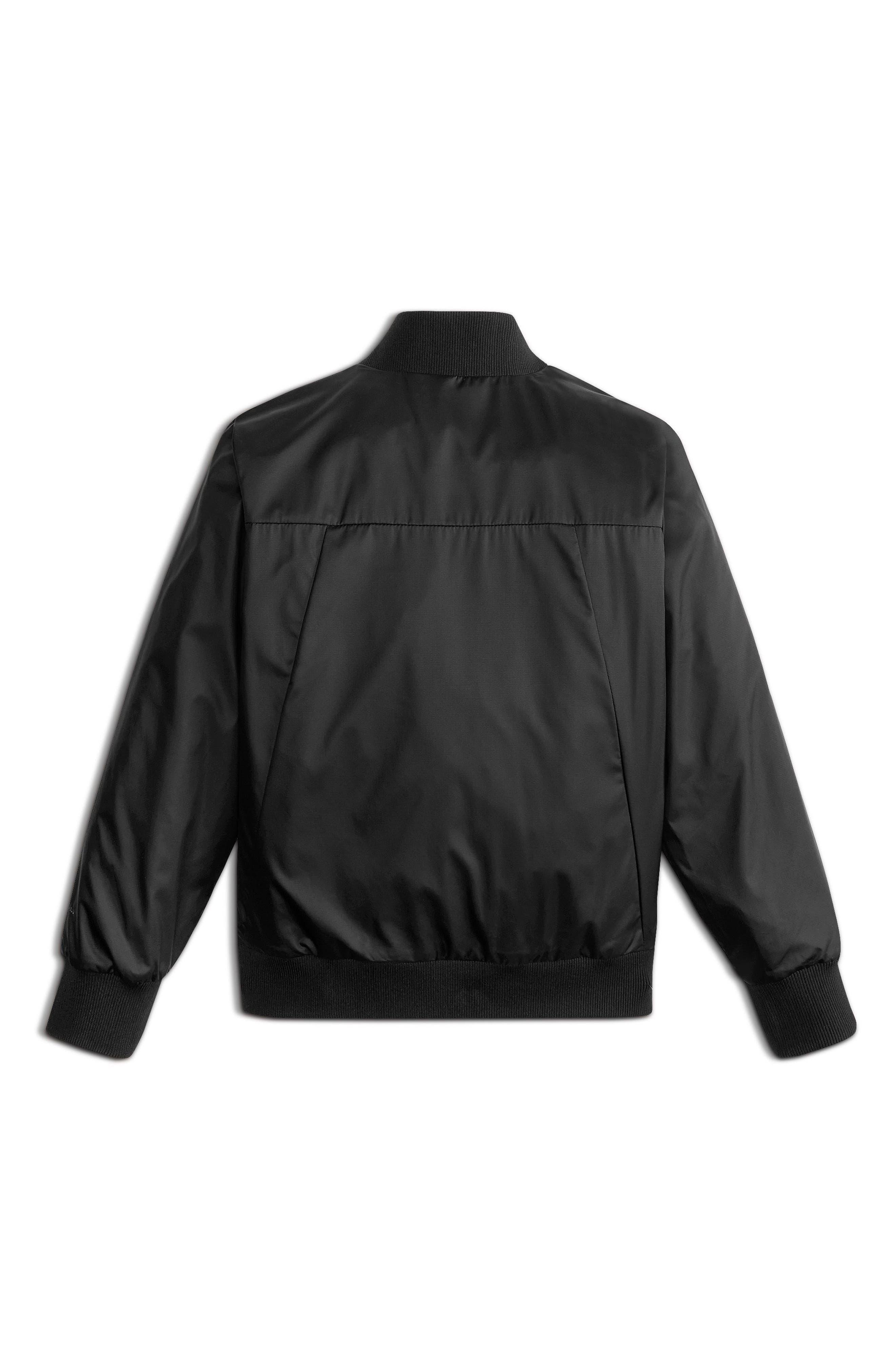 Flurry Windproof Bomber Jacket,                             Alternate thumbnail 2, color,                             Tnf Black