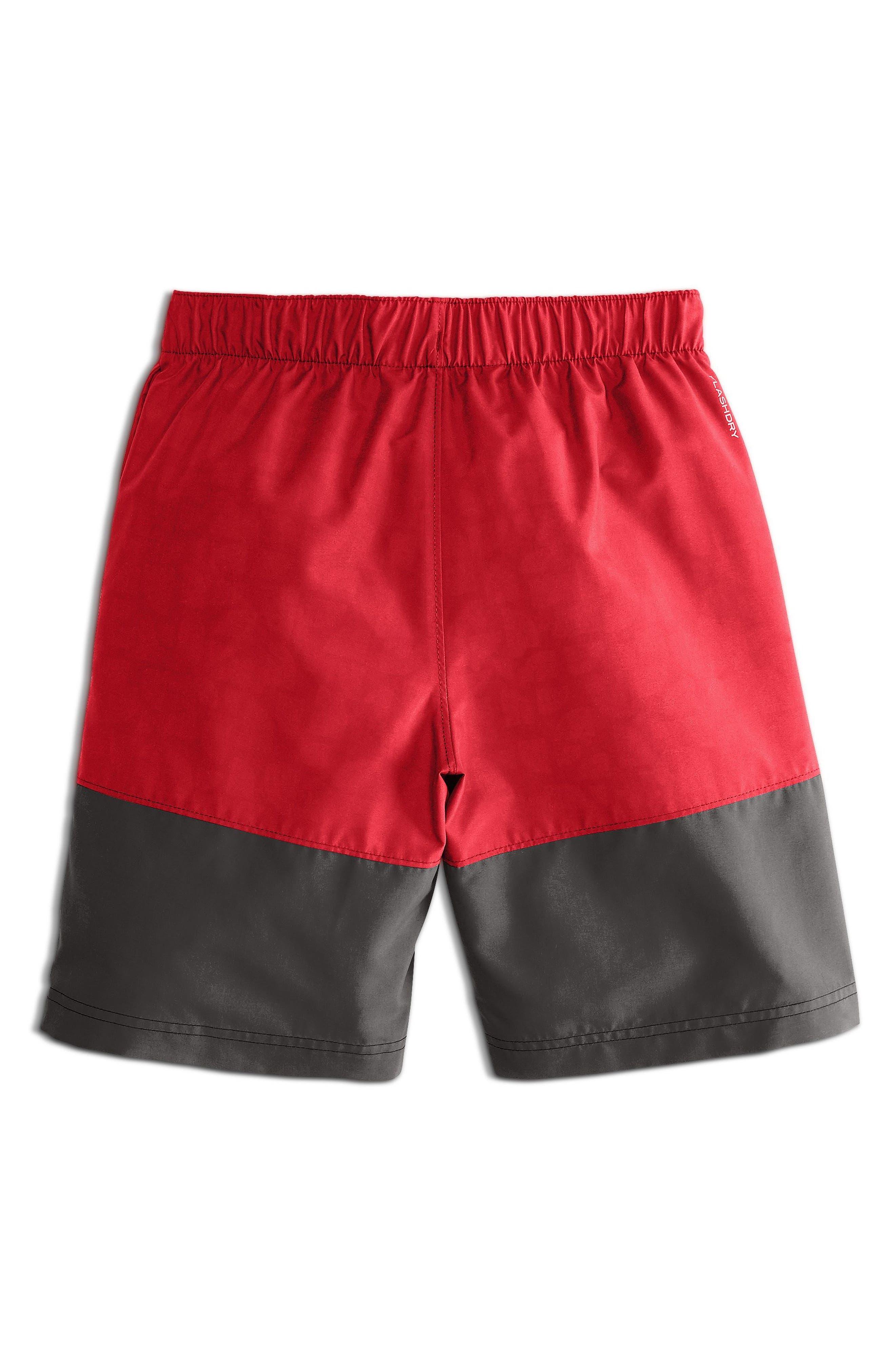 Swim Shorts,                             Alternate thumbnail 2, color,                             Tnf Red Logo Phantom Print