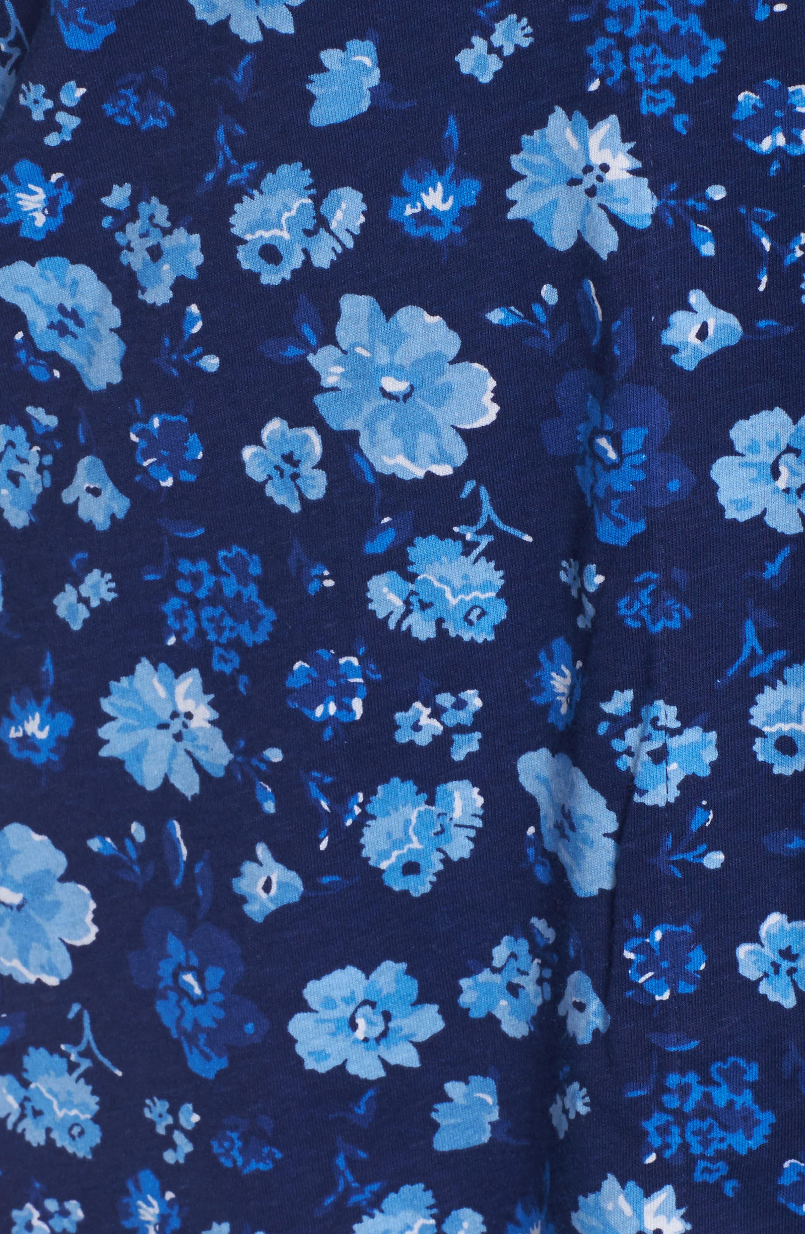 Crop Pajamas,                             Alternate thumbnail 6, color,                             Blue Floral