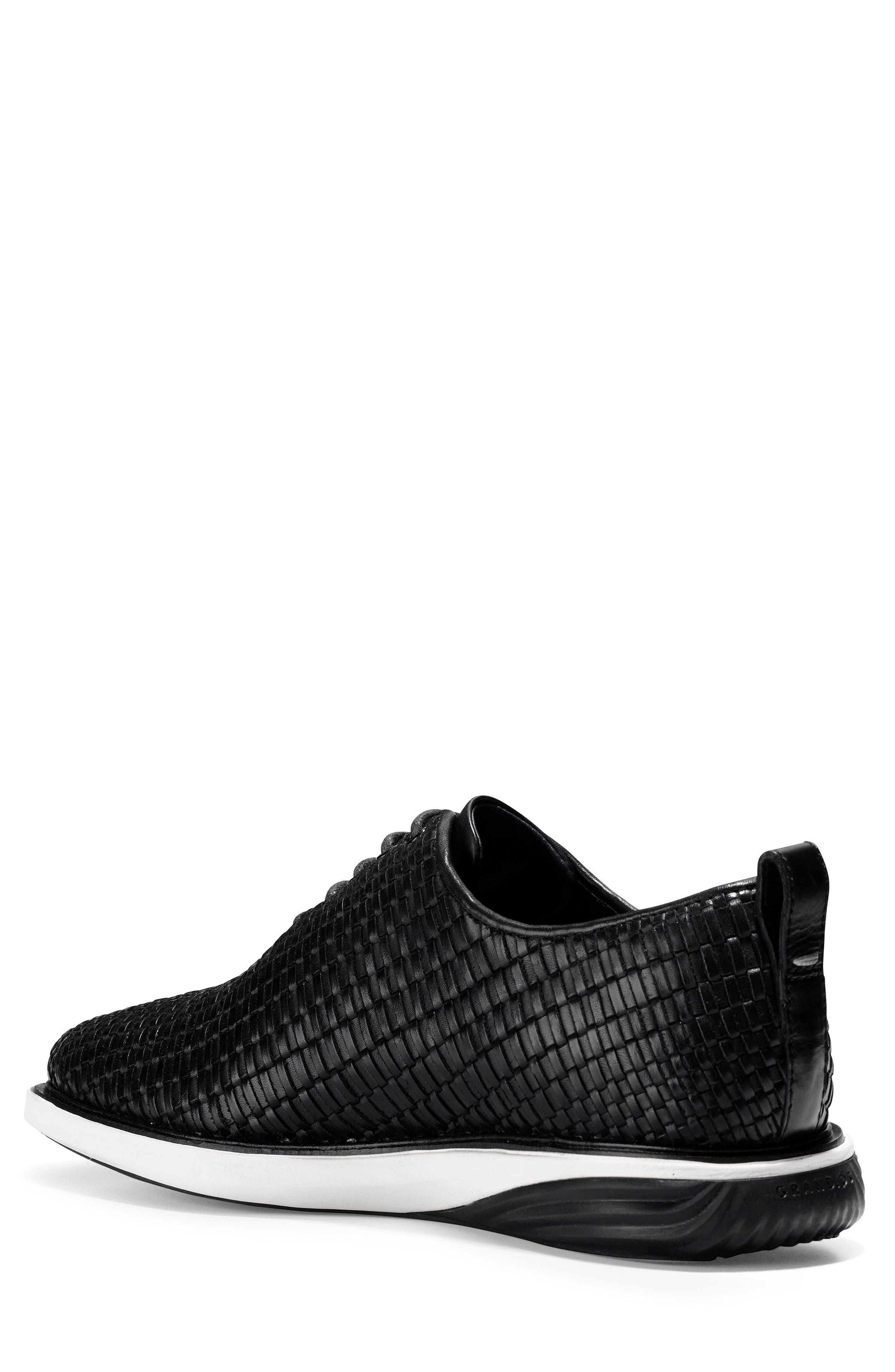 Grand Evolution Woven Oxford,                             Alternate thumbnail 2, color,                             Black Leather