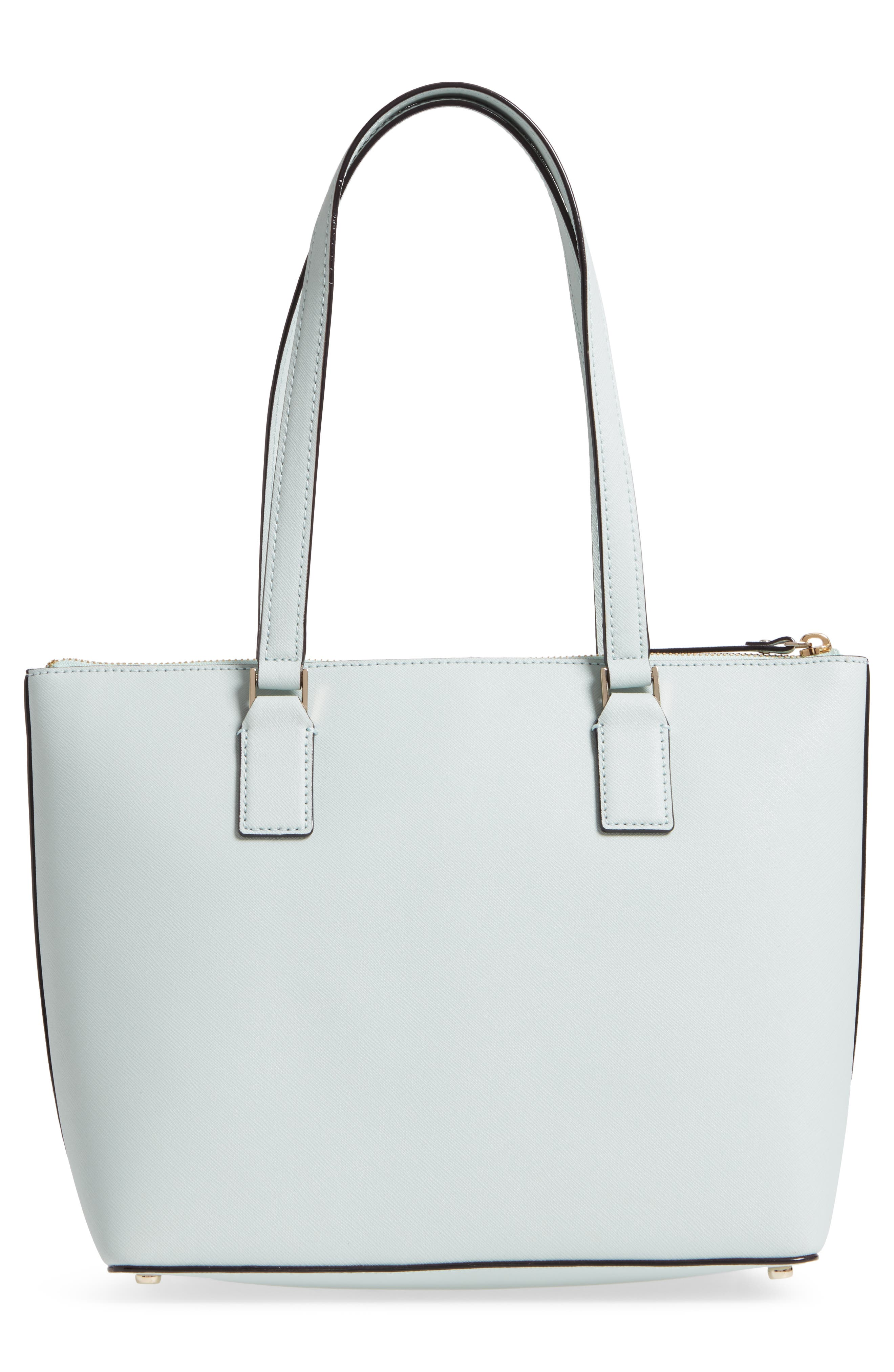 cameron street - small lucie leather tote,                             Alternate thumbnail 3, color,                             Misty Mint