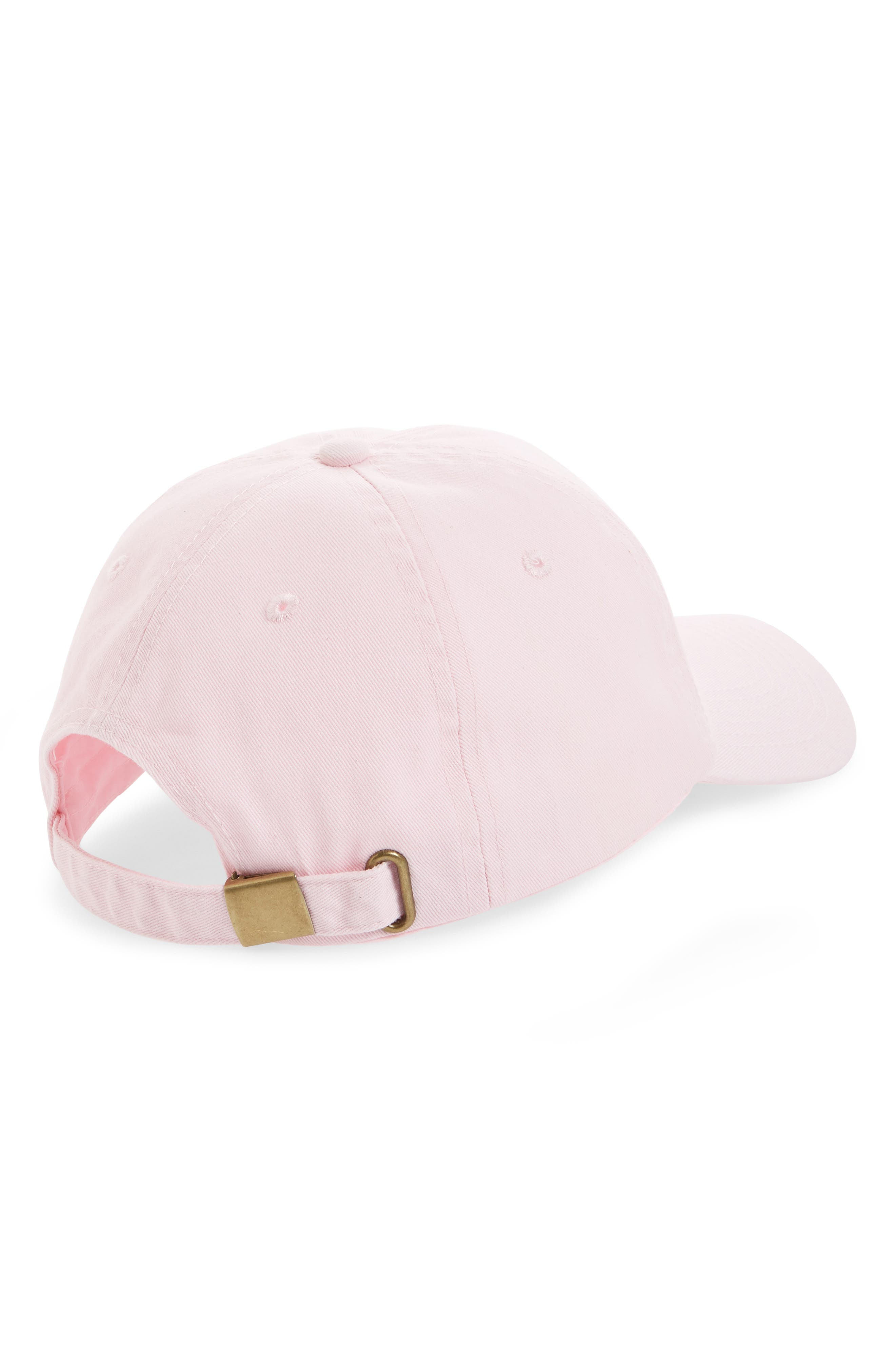 Peach Baseball Cap,                             Alternate thumbnail 2, color,                             Pink