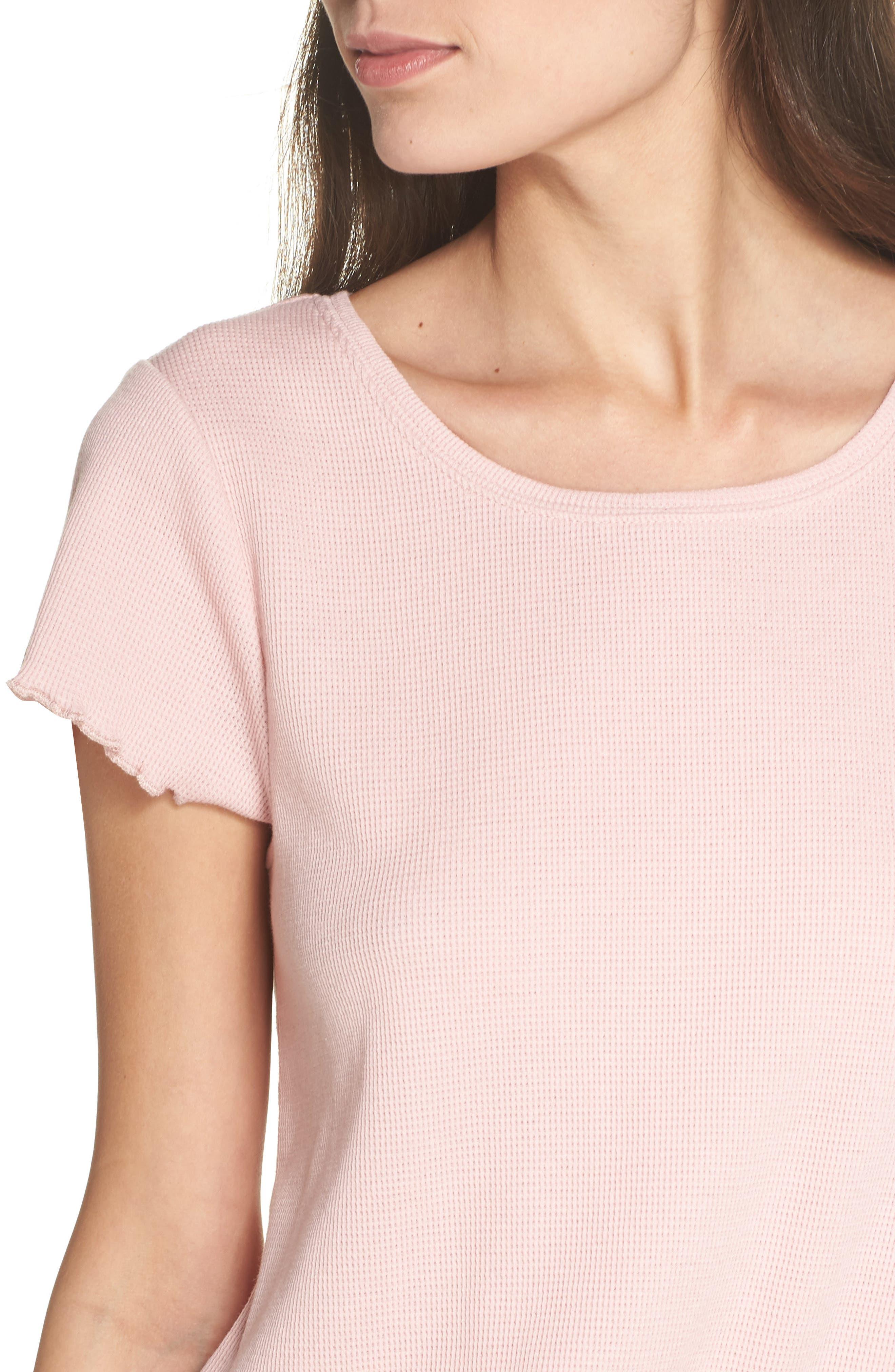 Thermal Short Pajamas,                             Alternate thumbnail 5, color,                             Pink Silver