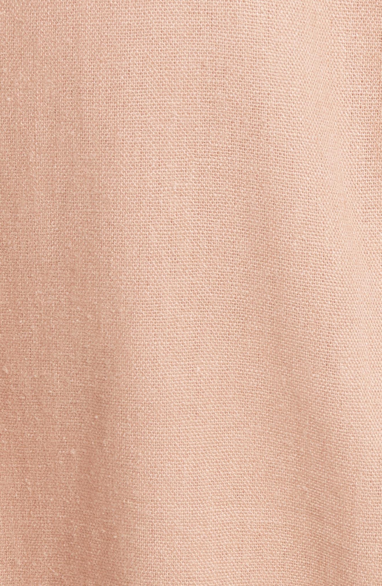 Flared Sleeve Blazer,                             Alternate thumbnail 5, color,                             Rose
