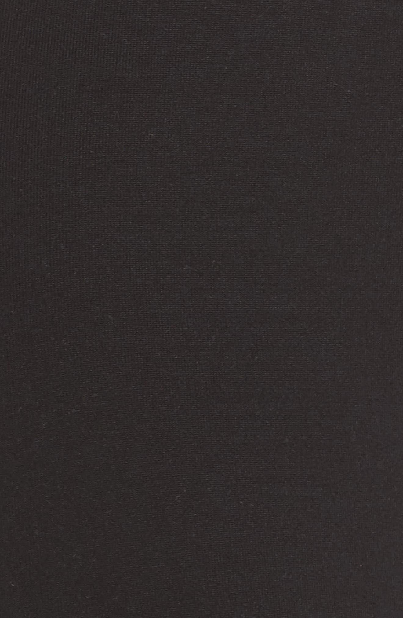 Laser Cut High Waist Leggings,                             Alternate thumbnail 6, color,                             Black