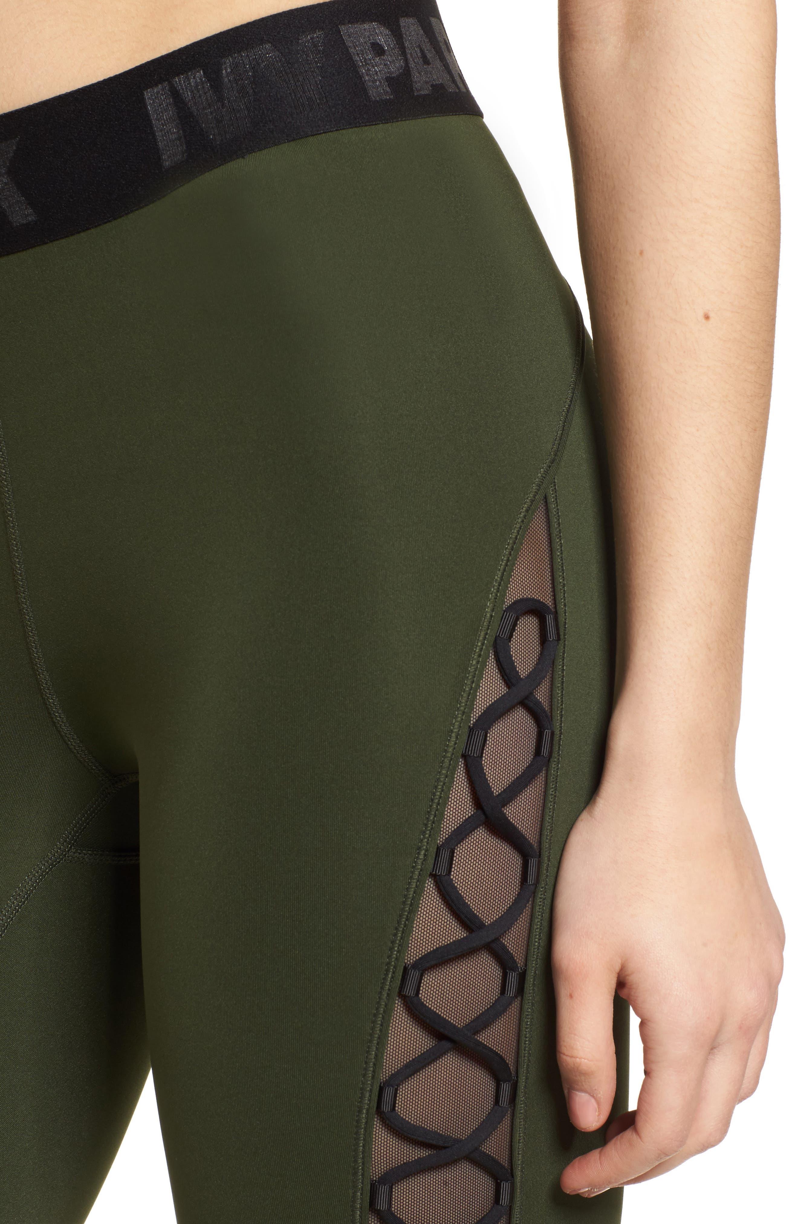 Alternate Image 5  - Ivy Park® Mesh Lace-Up Leggings