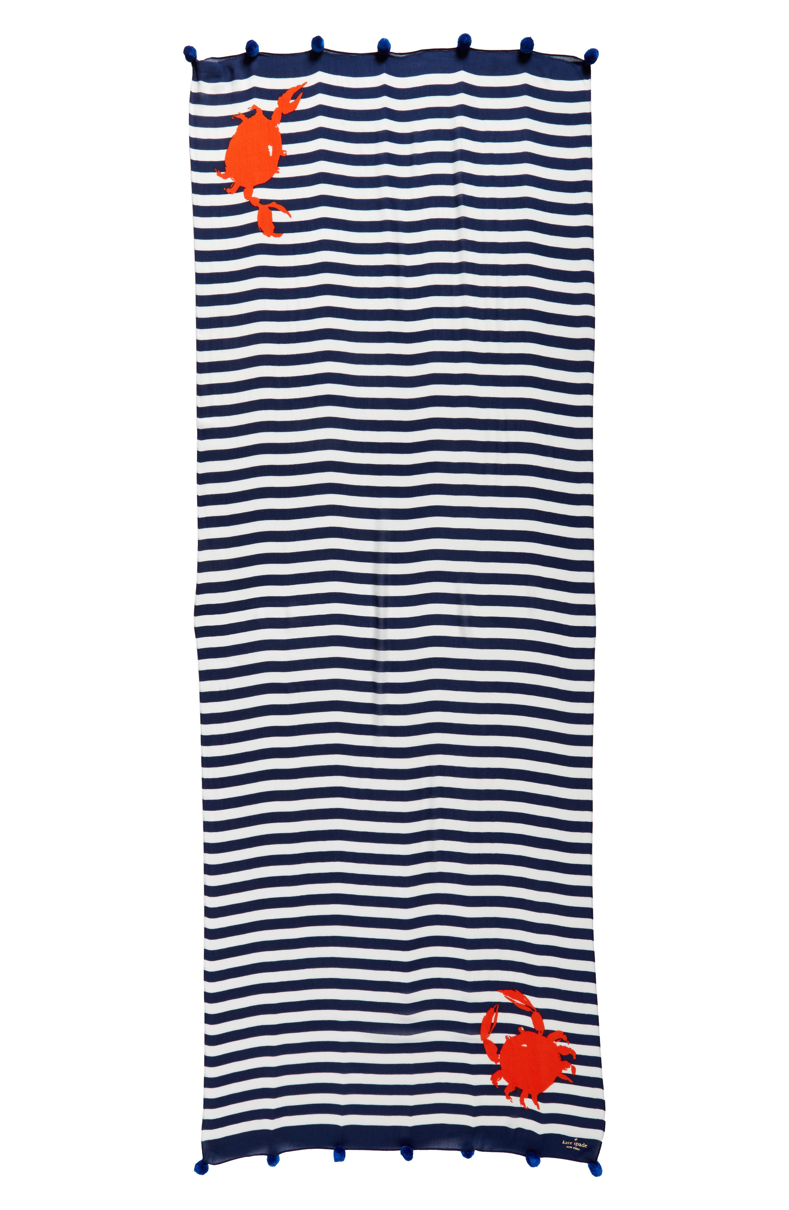 hanging crab stripe scarf,                             Alternate thumbnail 2, color,                             French Navy