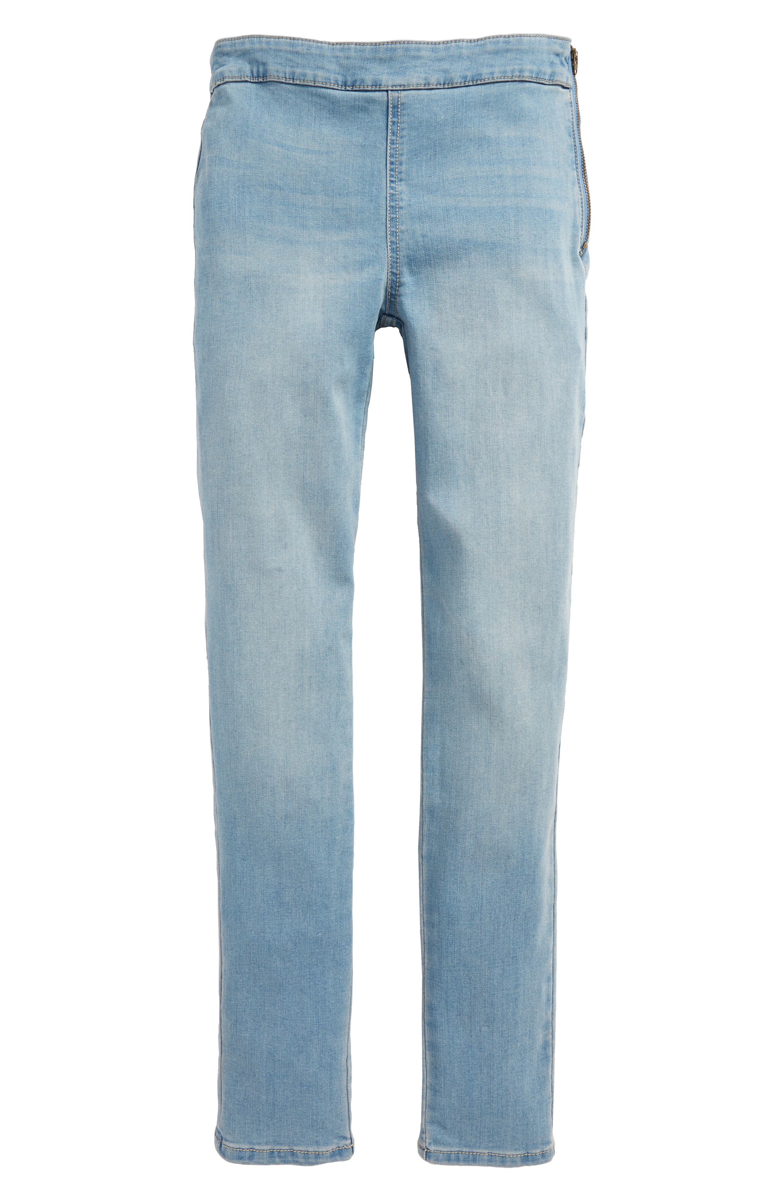 Side Zip Jeggings,                             Main thumbnail 1, color,                             Serene Wash