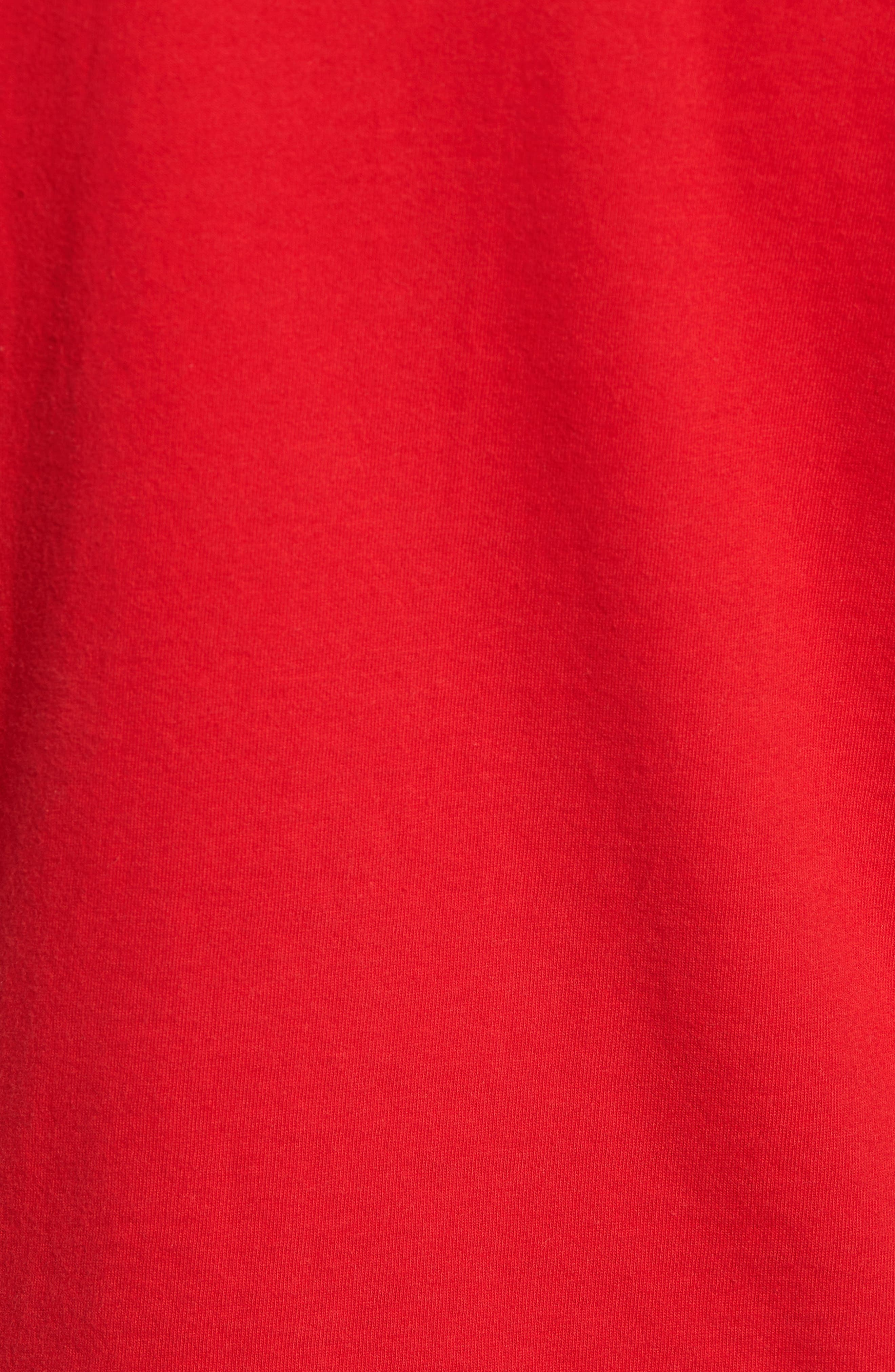 Trefoil T-Shirt,                             Alternate thumbnail 5, color,                             Scarle