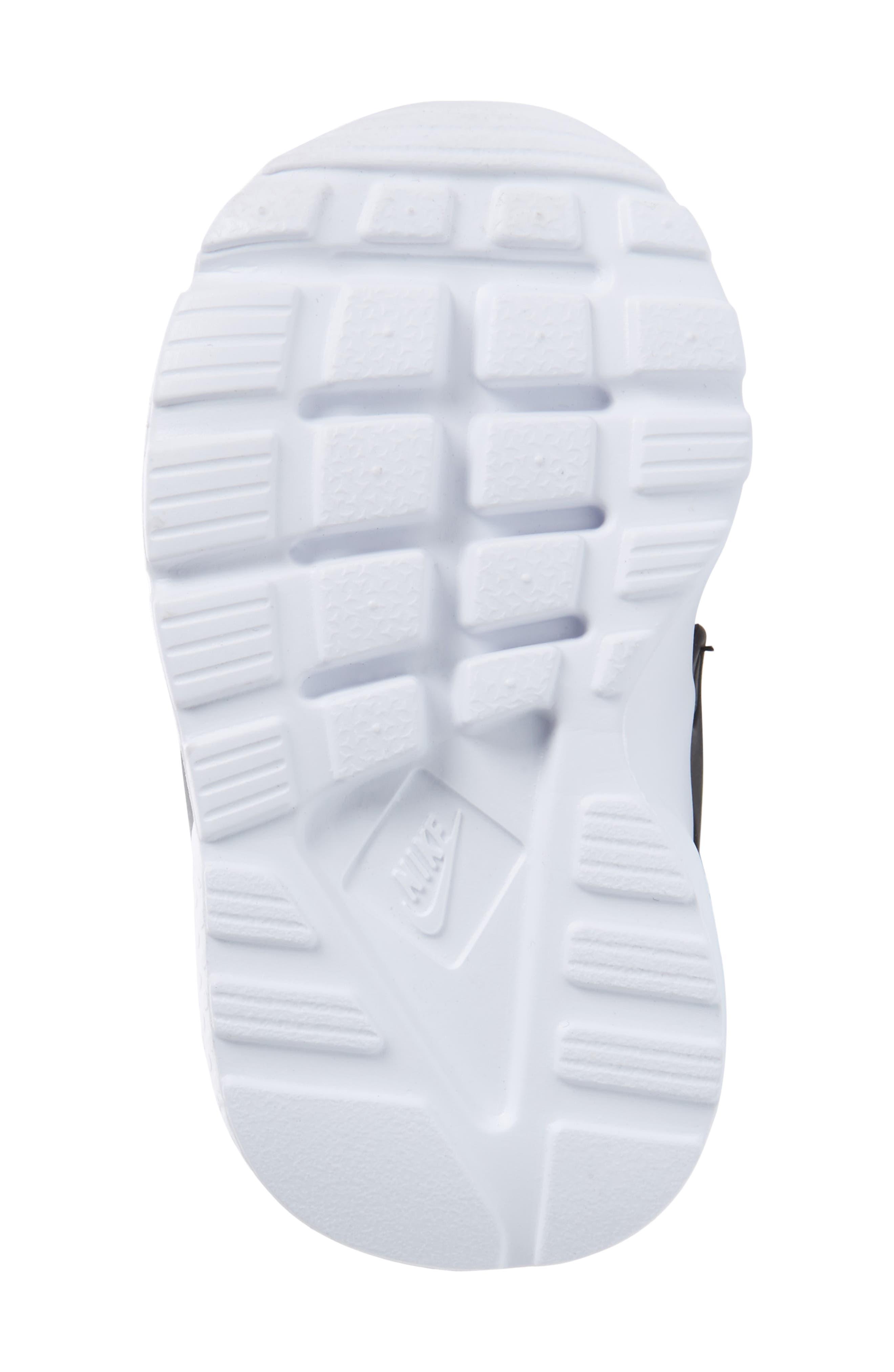 Air Huarache Run Ultra Sneaker,                             Alternate thumbnail 6, color,                             Black/ Black/ White