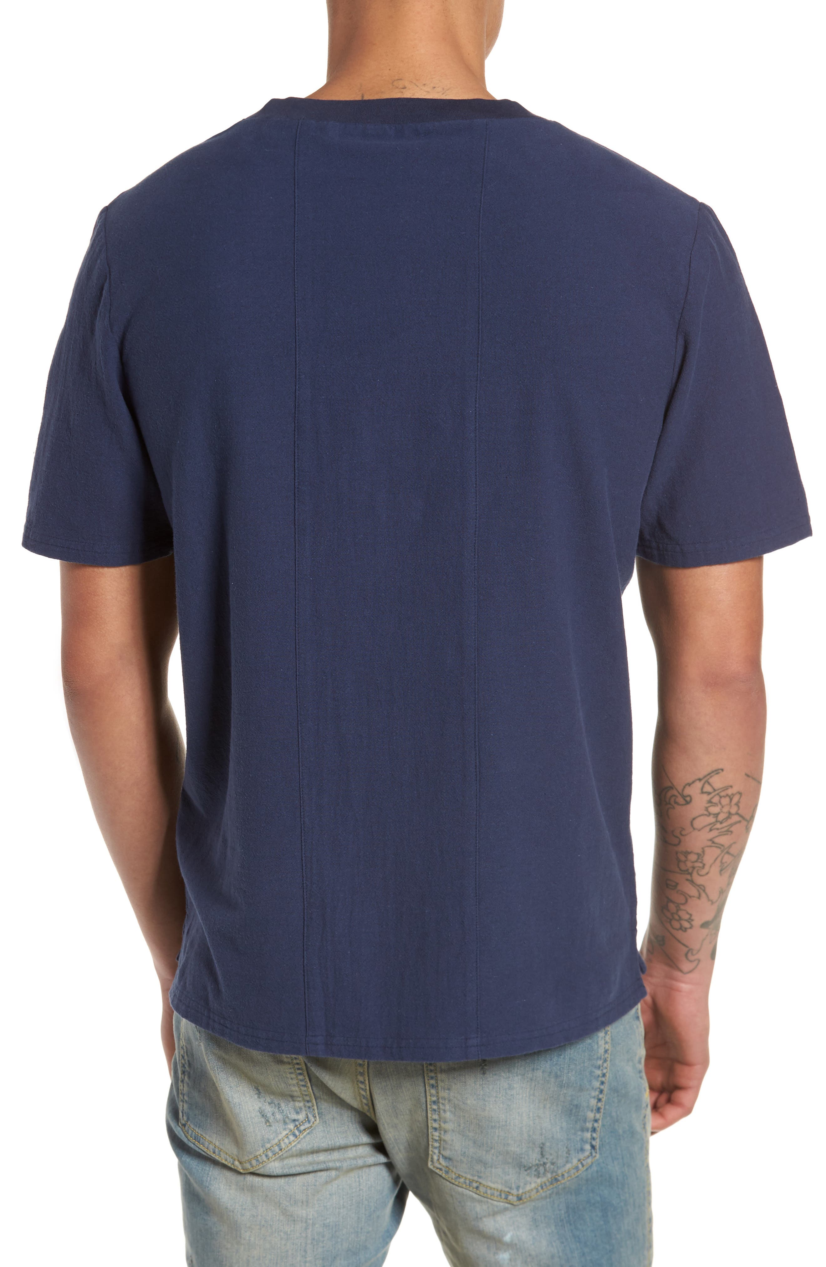 Broads Woven T-Shirt,                             Alternate thumbnail 2, color,                             Navy