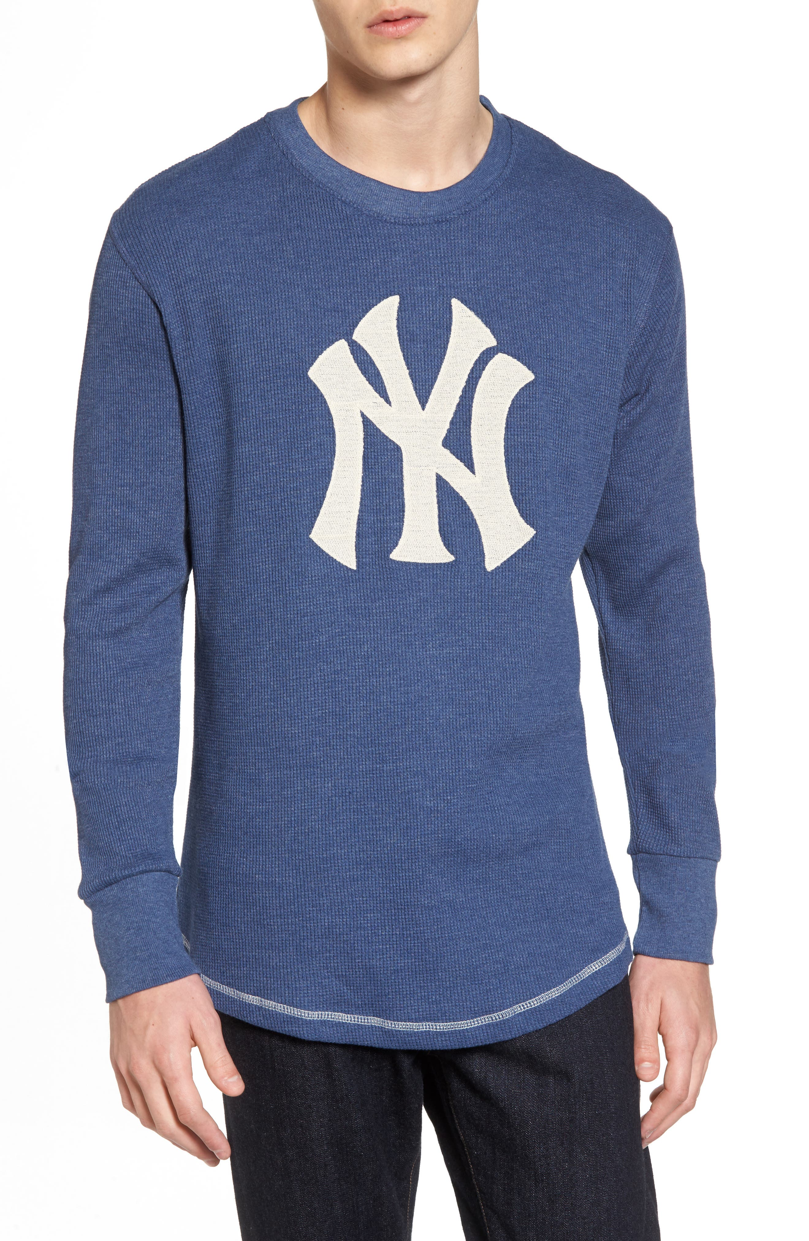 American Needle New York Yankees Embroidered Long Sleeve Thermal Shirt