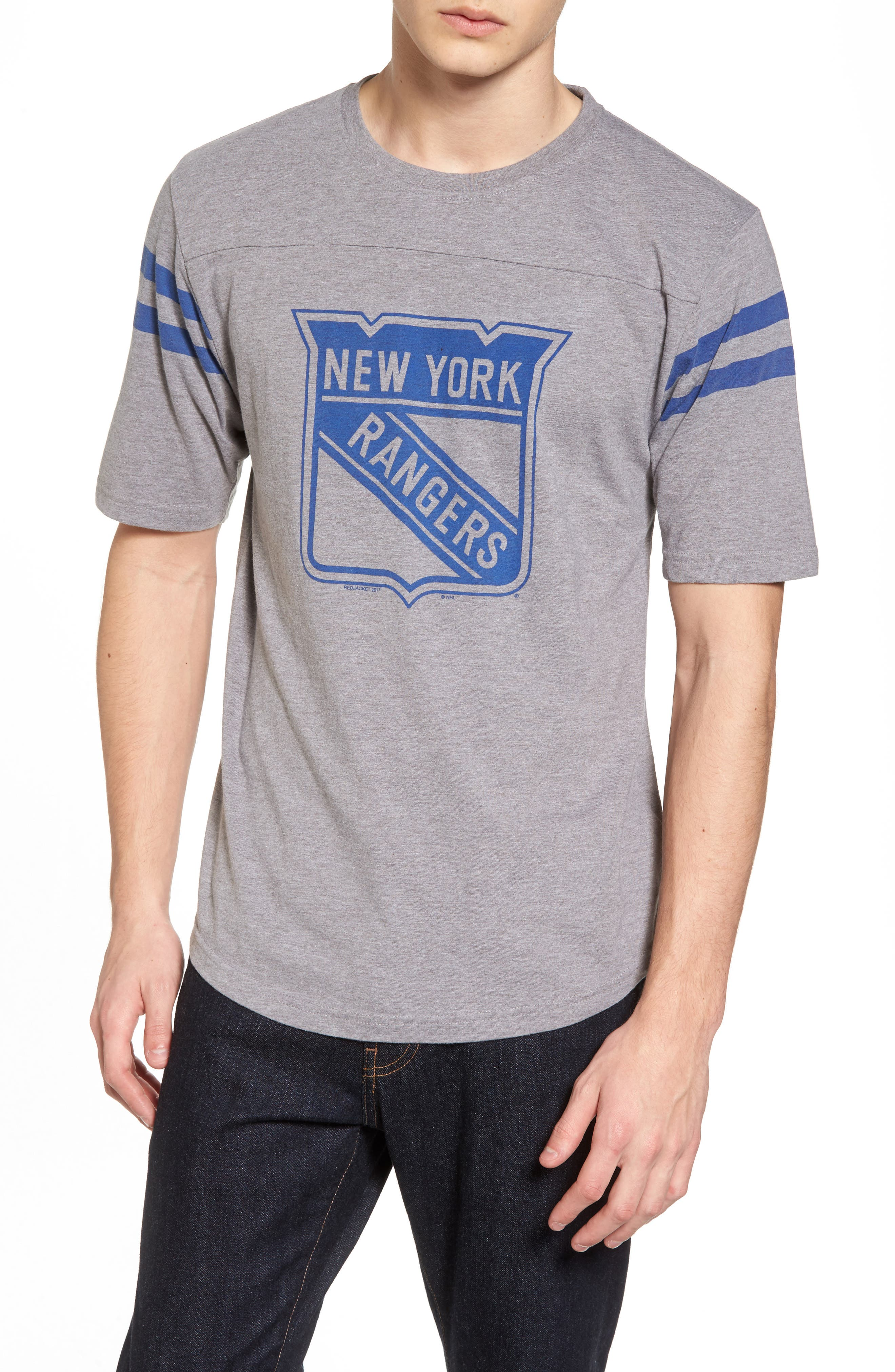 Crosby New York Rangers T-Shirt,                         Main,                         color, Heather Grey