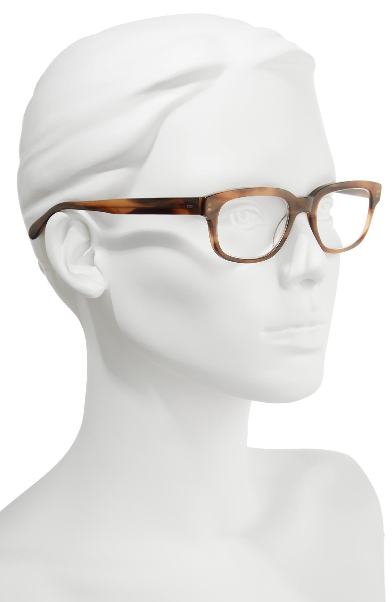 Corrine McCormack Brandy 51mm Reading Glasses,                             Alternate thumbnail 2, color,                             Brown