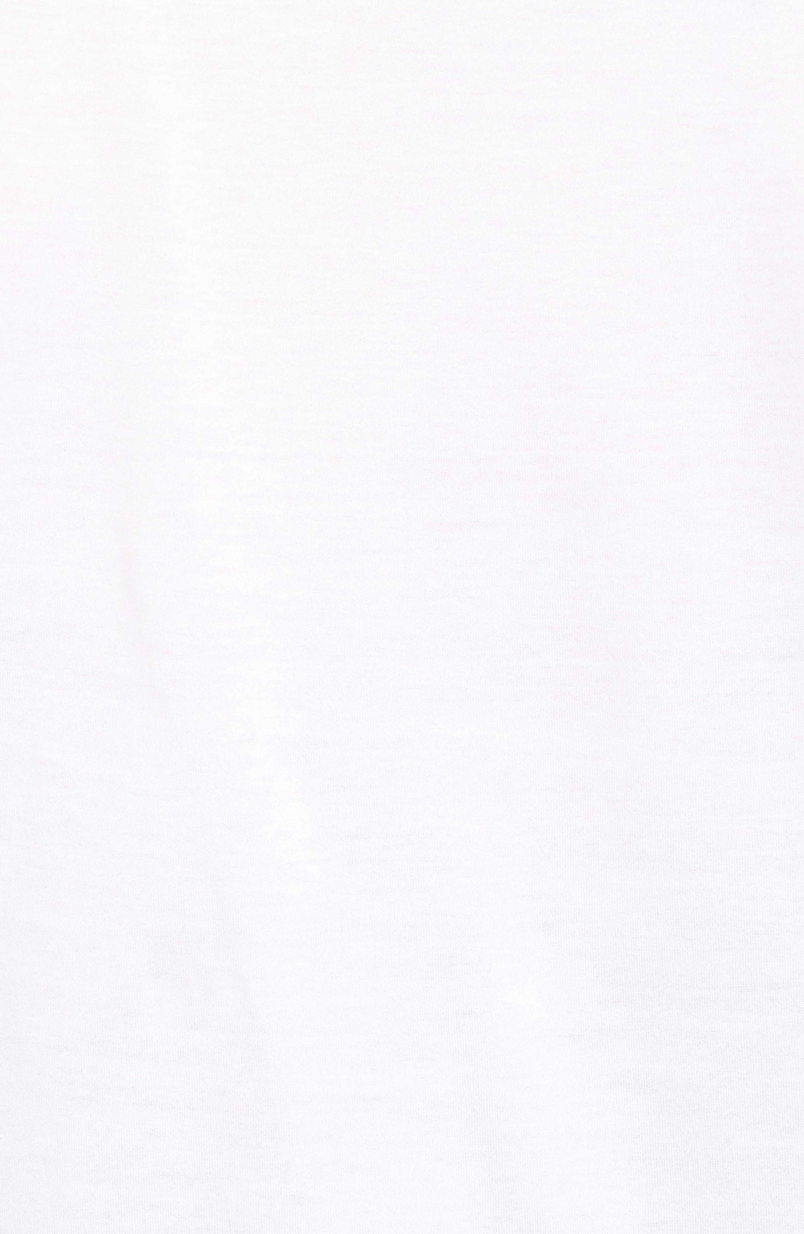 Mercerized Cotton Crewneck T-Shirt,                             Alternate thumbnail 5, color,                             White