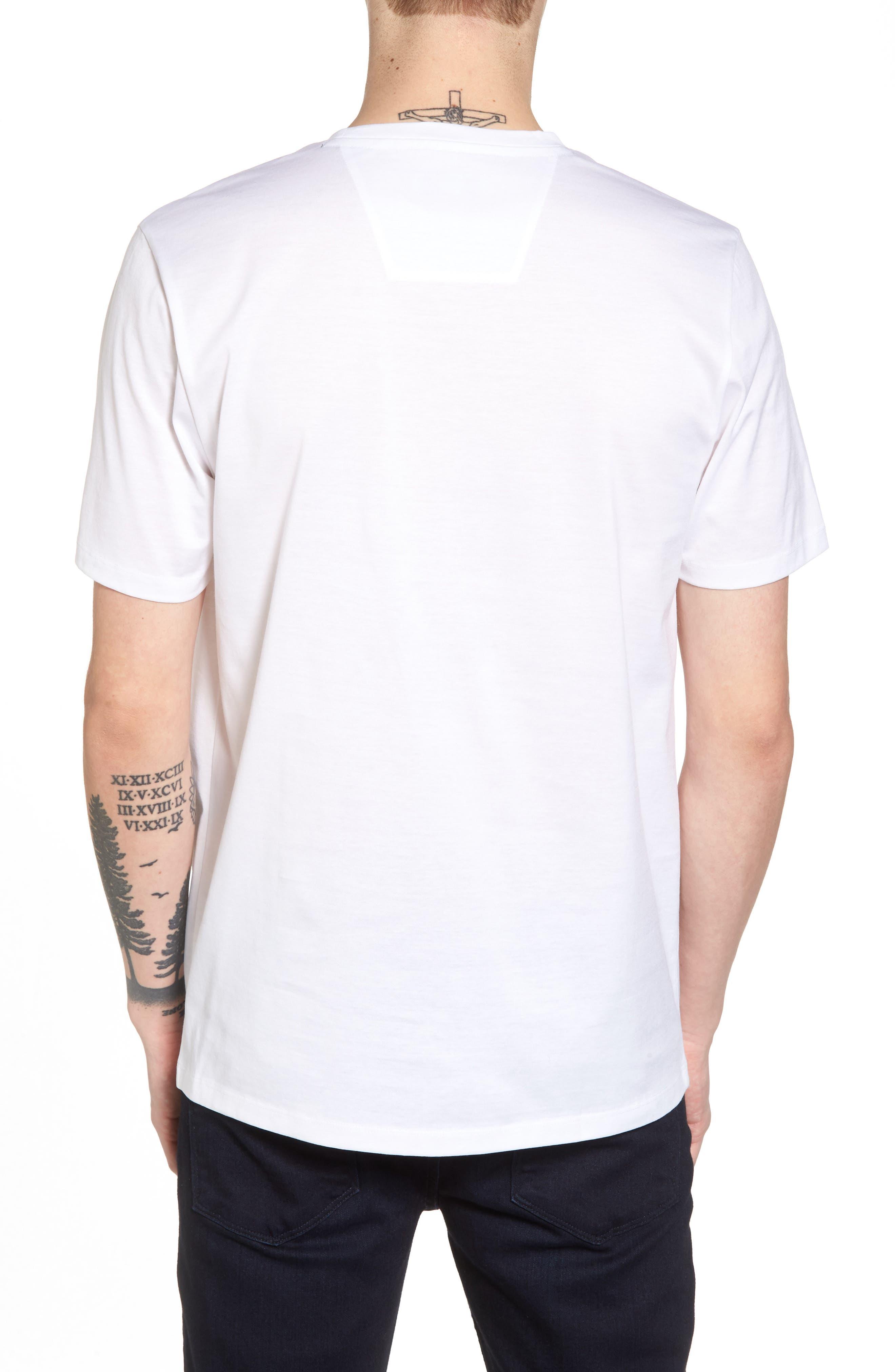 Mercerized Cotton Crewneck T-Shirt,                             Alternate thumbnail 2, color,                             White