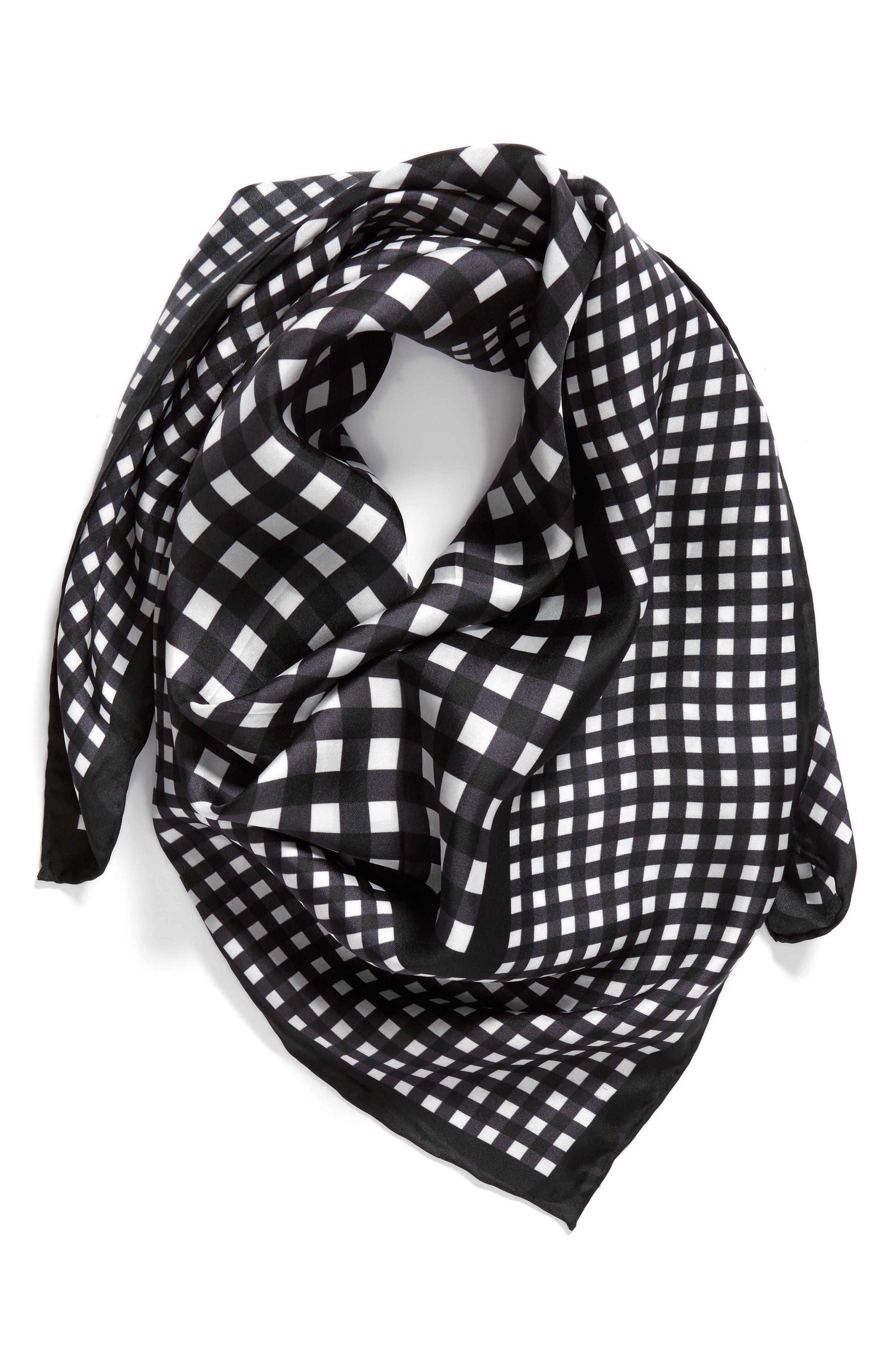 Alternate Image 3  - kate spade new york gingham square silk scarf