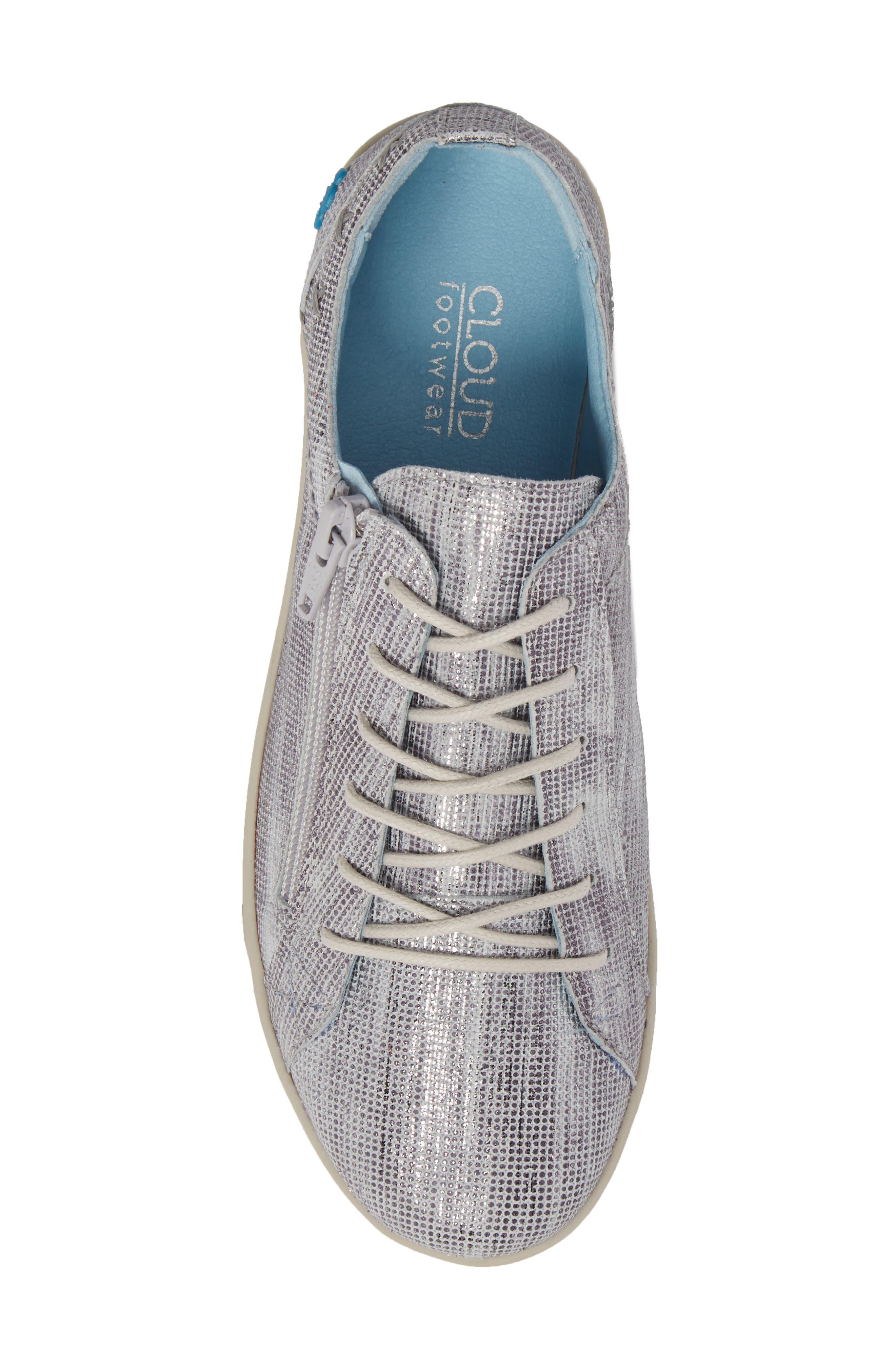 Aika Dunkan Sneaker,                             Alternate thumbnail 5, color,                             Grey Leather