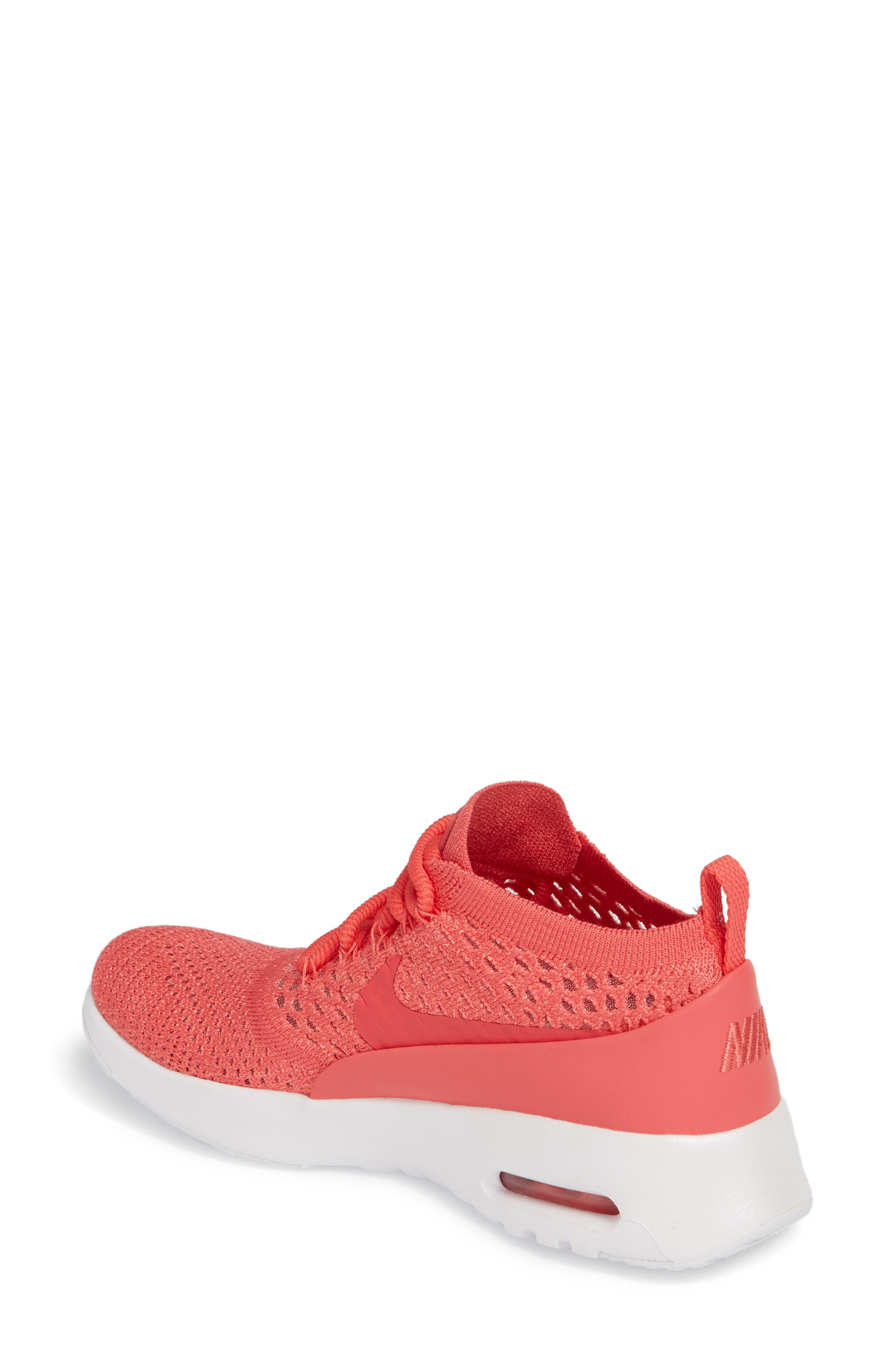 Air Max Thea Ultra Flyknit Sneaker,                             Alternate thumbnail 2, color,                             Geranium/ Geranium