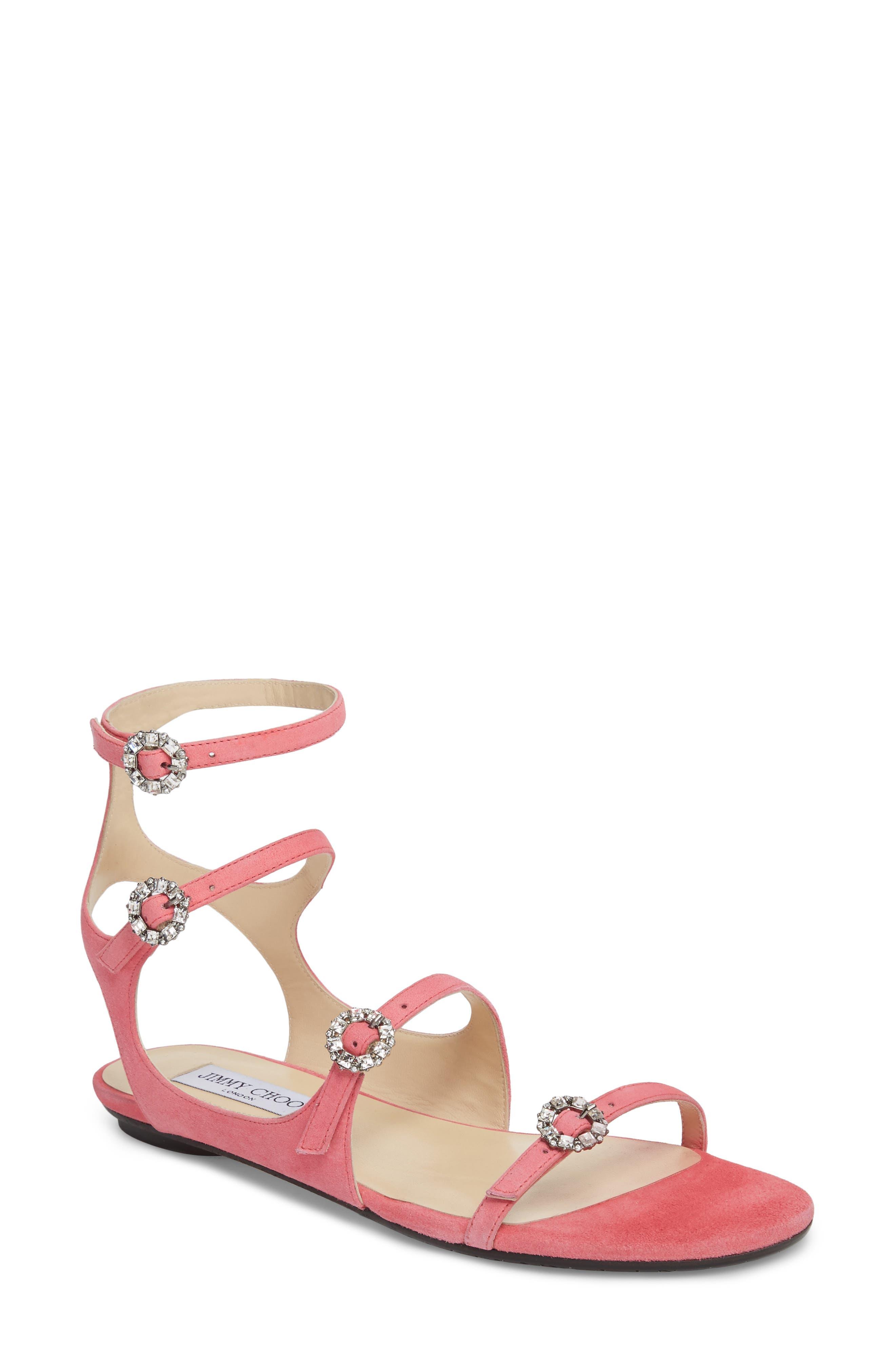 Jimmy Choo Naia Crystal Buckle Sandal (Women)