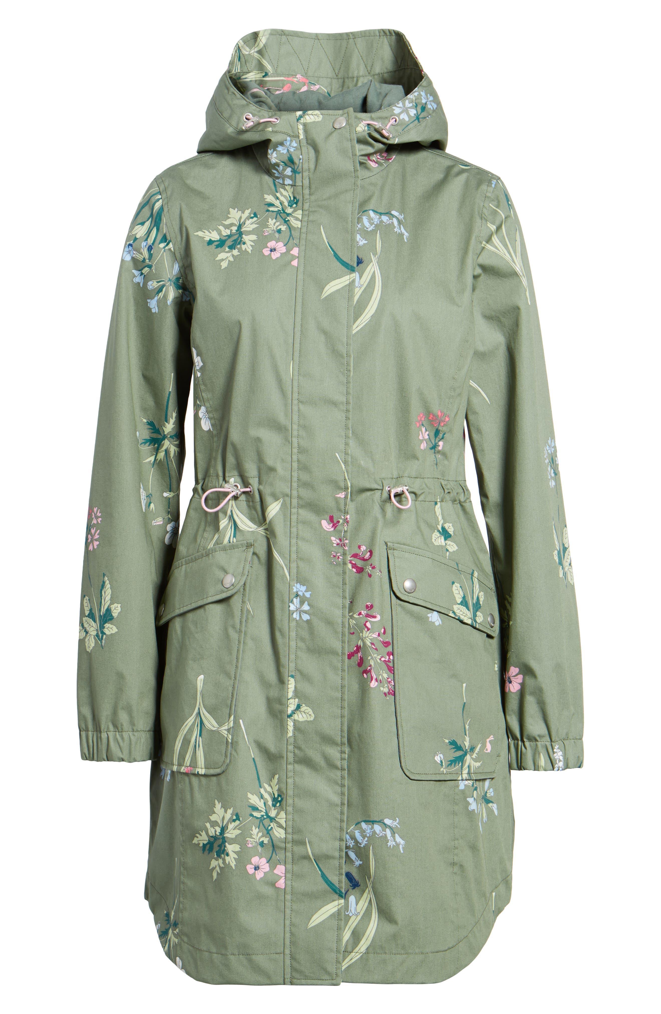 Right as Rain - Coastline Waterproof Cotton Jacket,                             Alternate thumbnail 6, color,                             Laurel Botanical