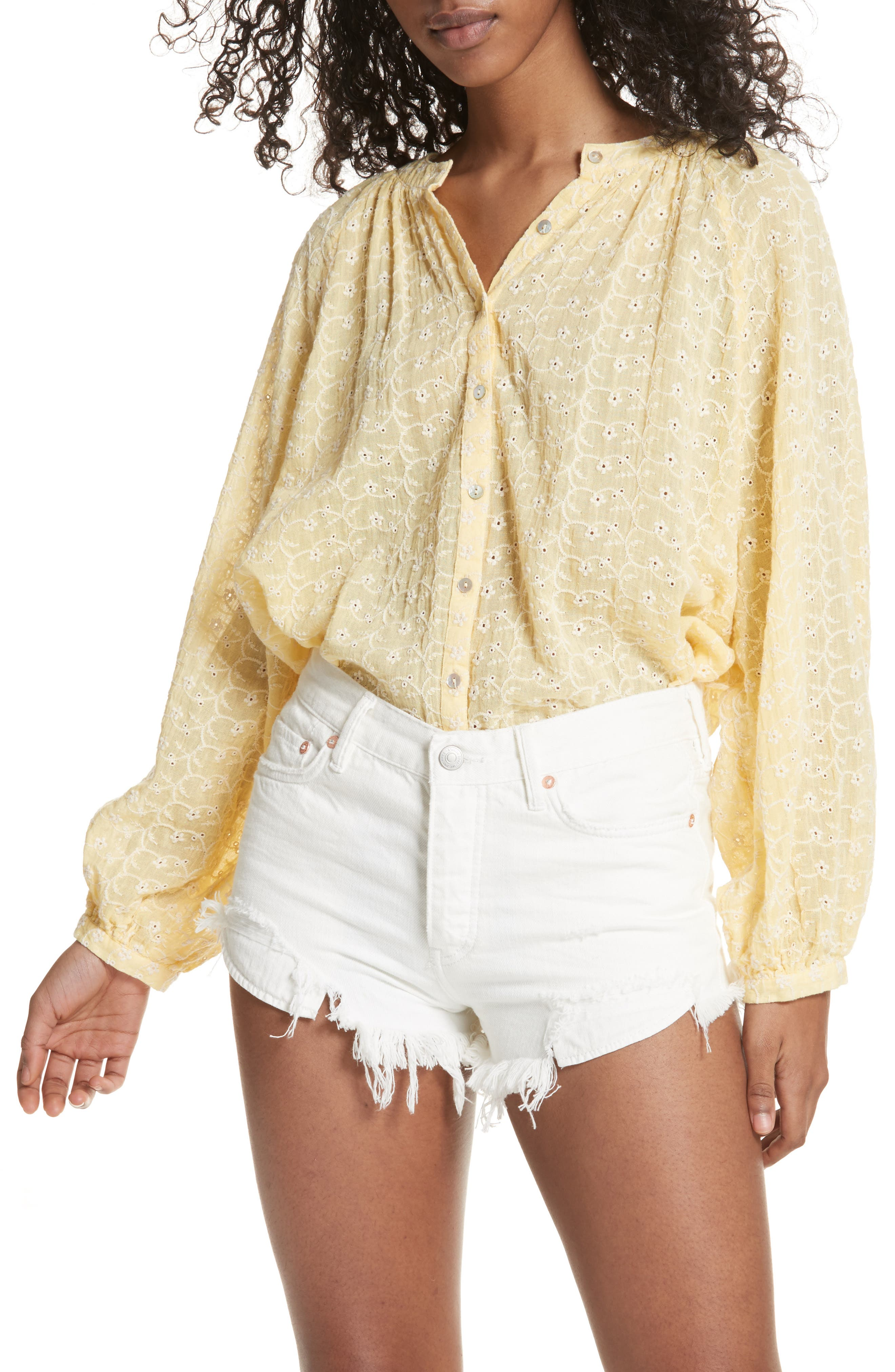 Down from the Clouds Peasant Top,                         Main,                         color, Gold