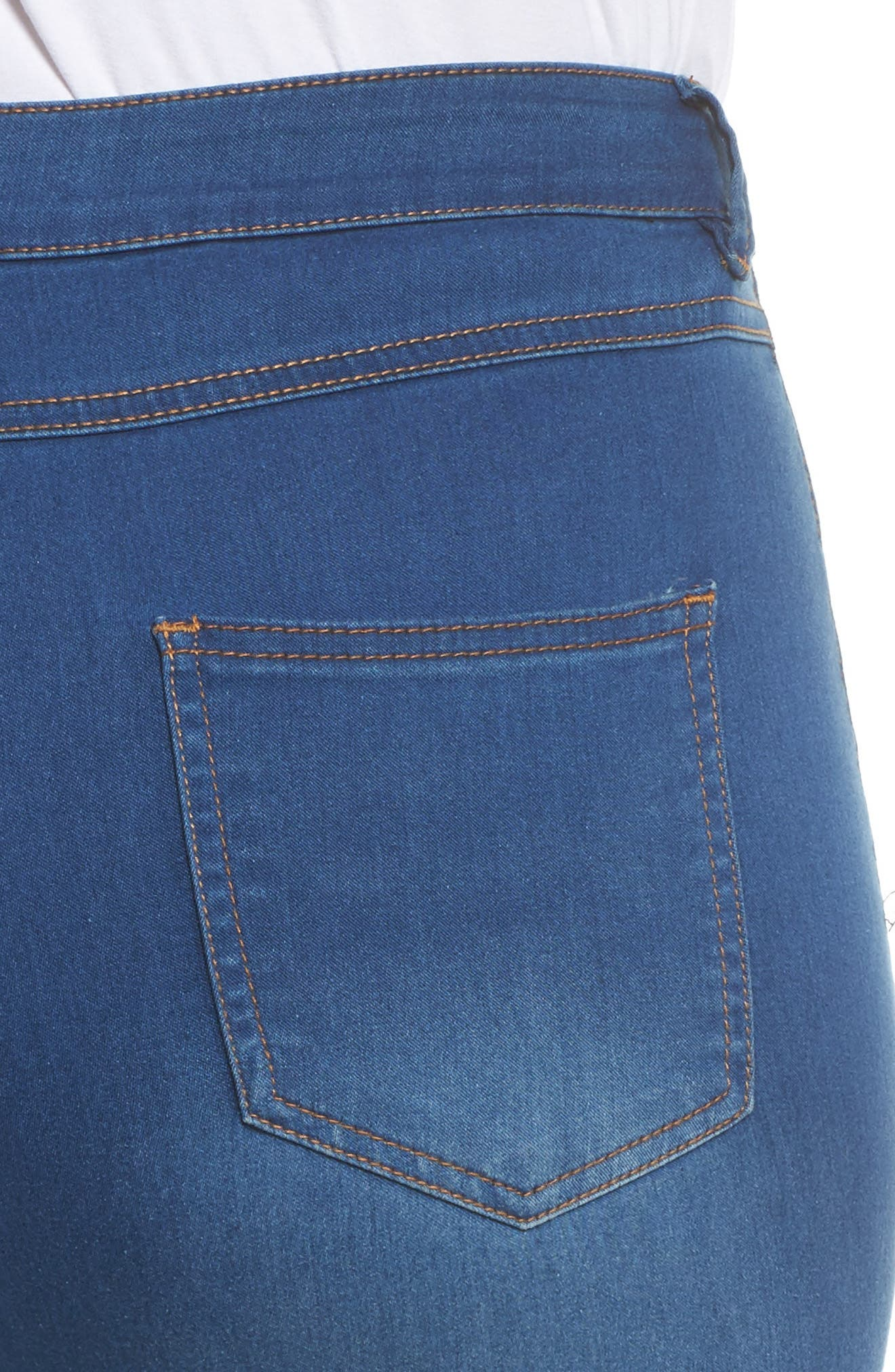 Alternate Image 4  - Evans Skinny Stretch Jeans (Mid Wash) (Plus Size)