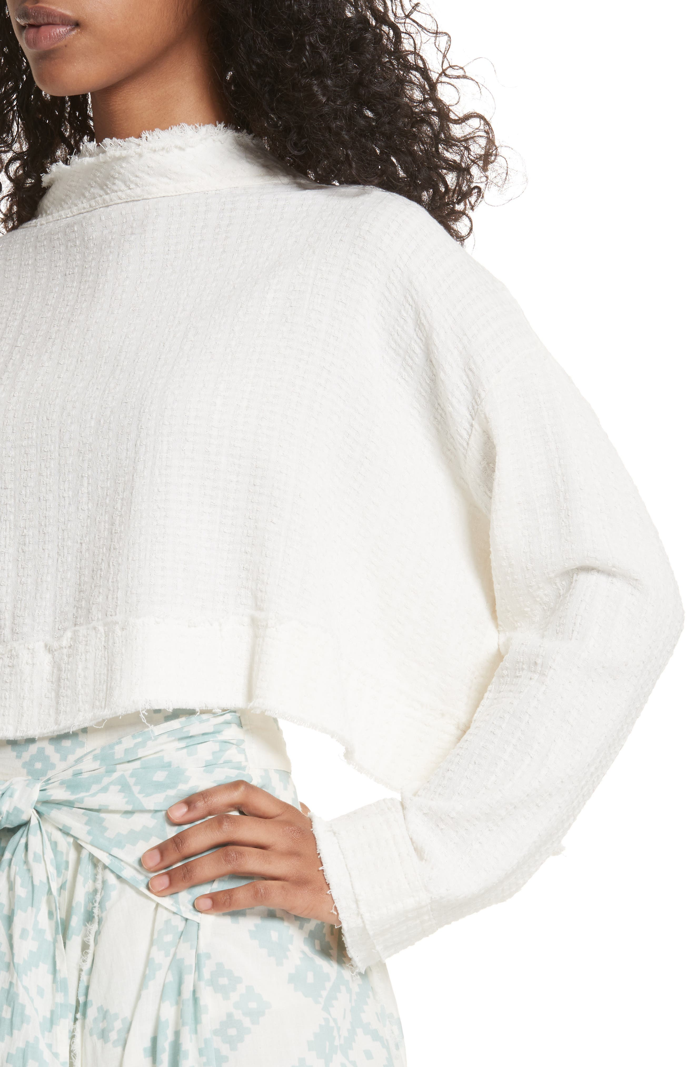 Waking in Hueco Crop Sweater,                             Alternate thumbnail 4, color,                             Ivory