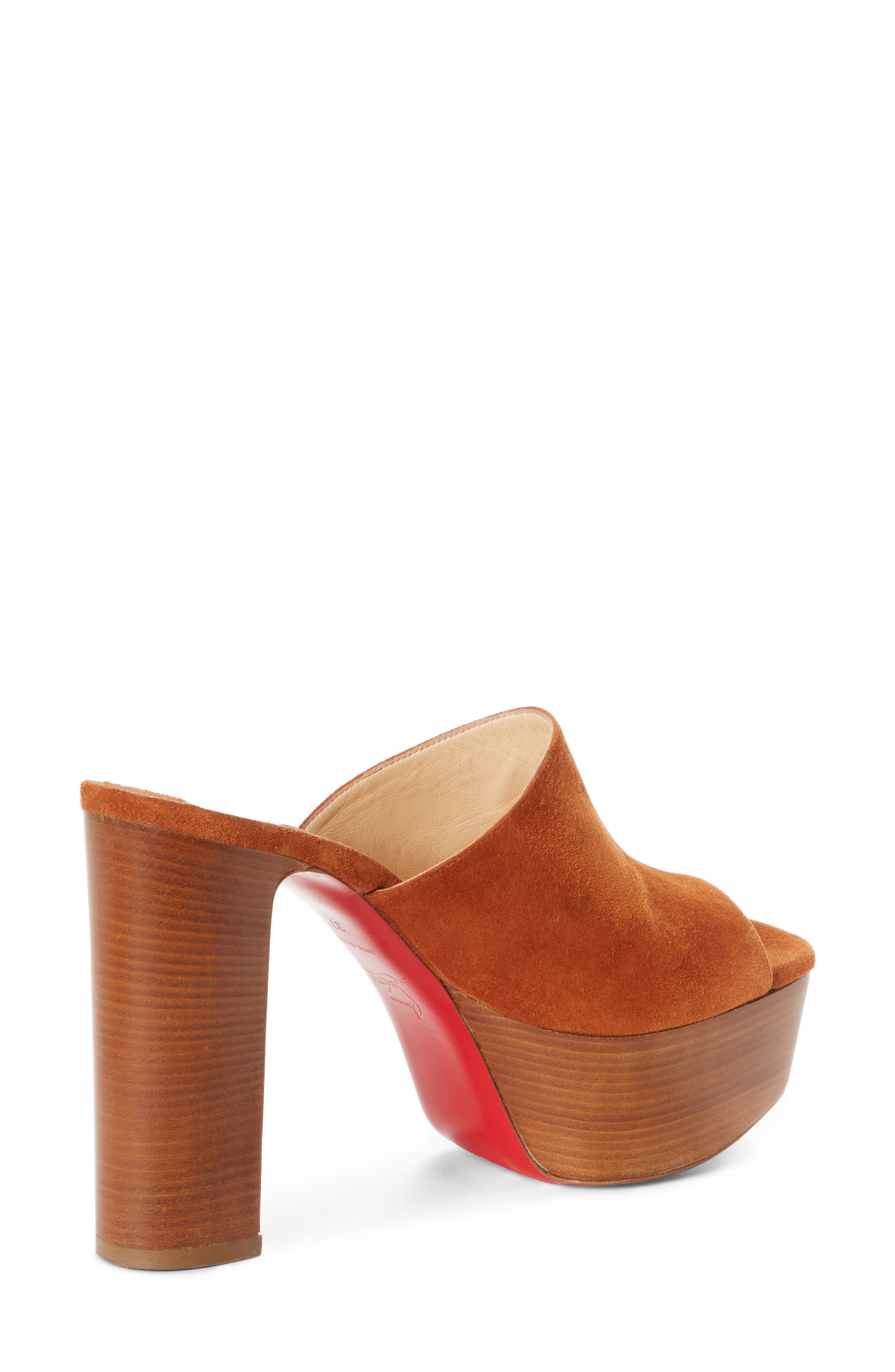 Alternate Image 3  - Christian Louboutin Suede Platform Mule Sandal (Women)