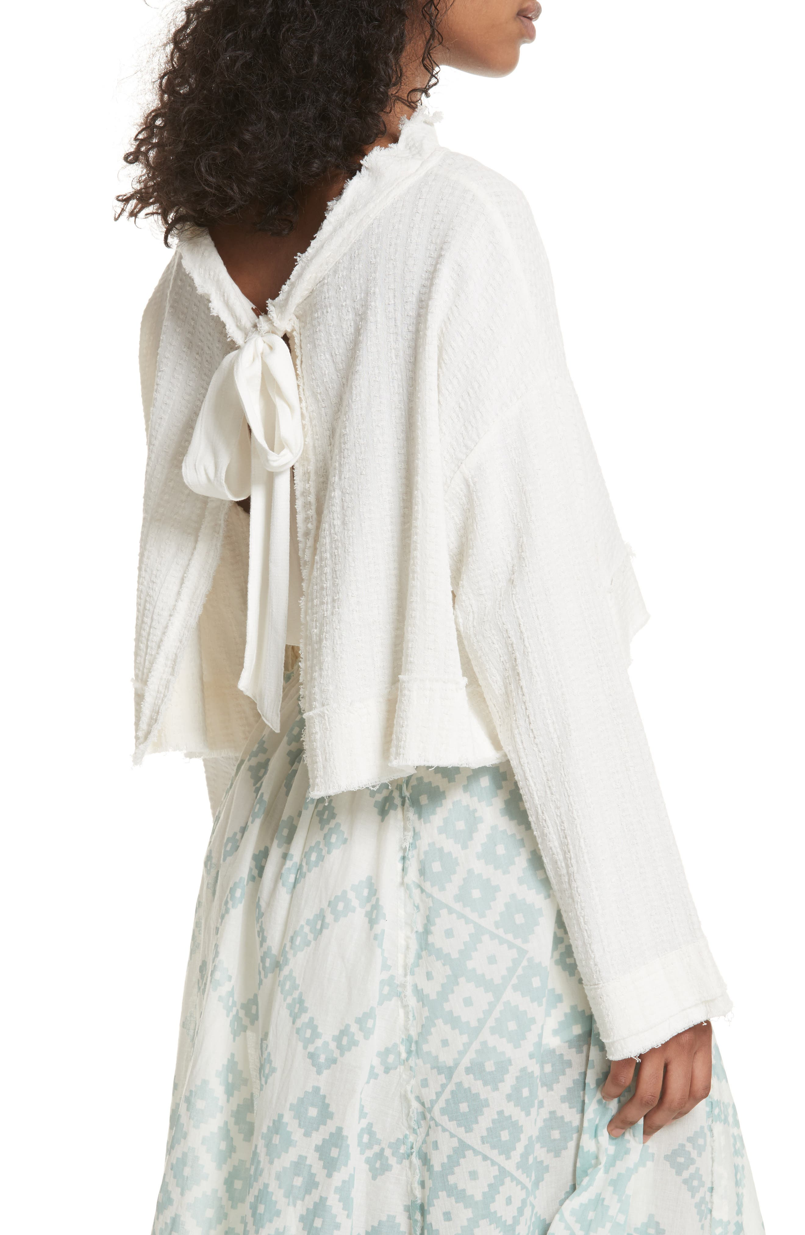 Waking in Hueco Crop Sweater,                             Alternate thumbnail 2, color,                             Ivory