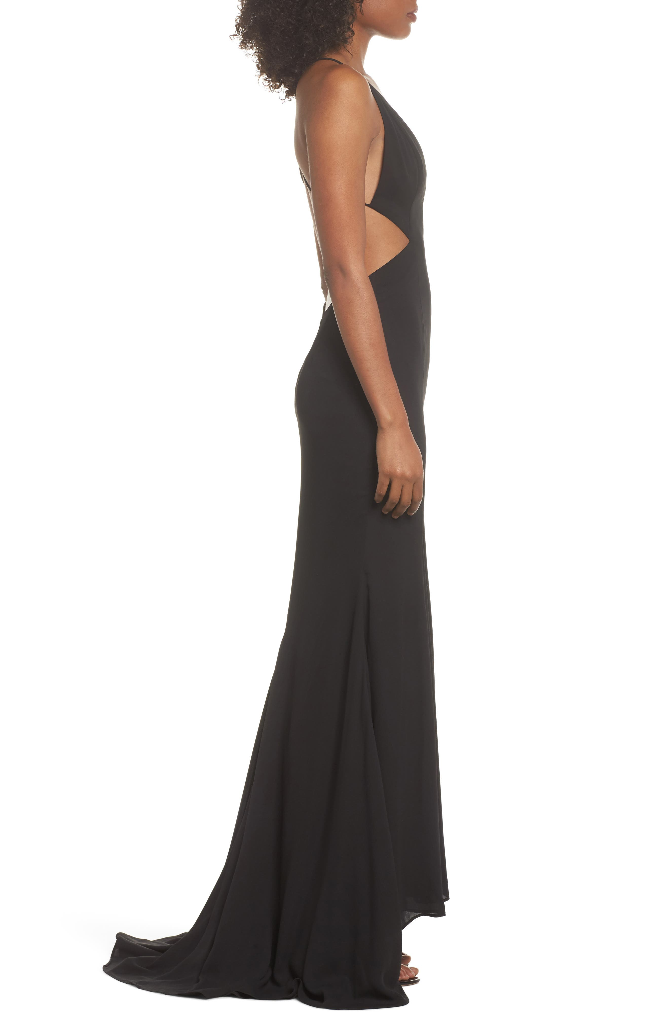 Nikita Gown,                             Alternate thumbnail 3, color,                             Black