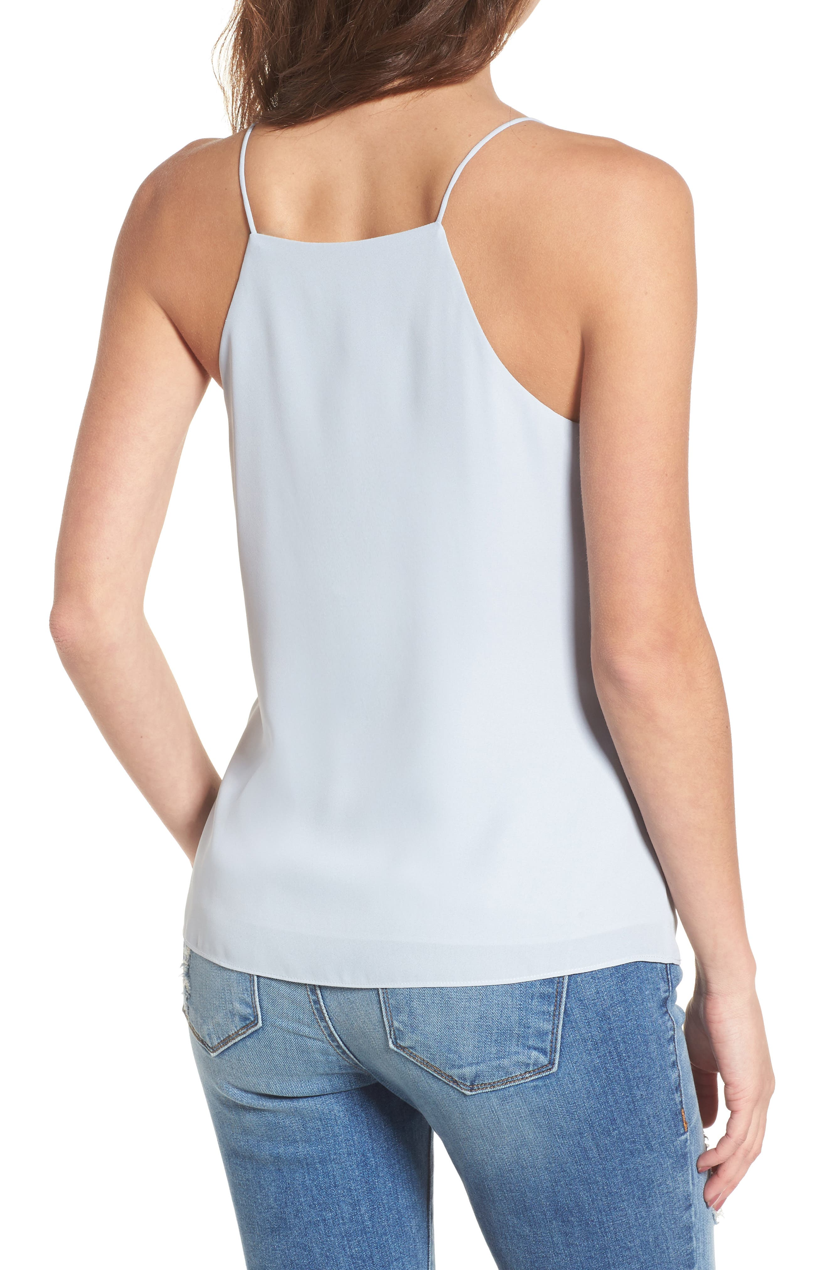 Posie Strappy Camisole,                             Alternate thumbnail 2, color,                             Blue Pearl