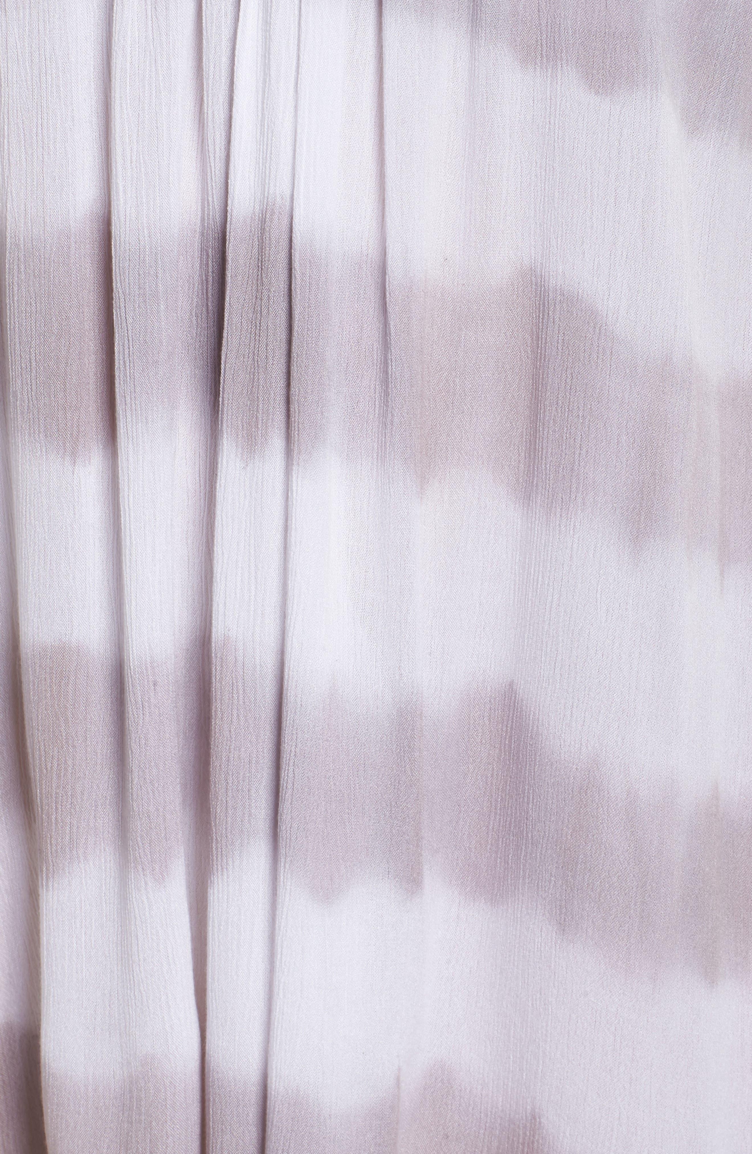 Cover-Up Dress,                             Alternate thumbnail 5, color,                             Grey/White Stripe