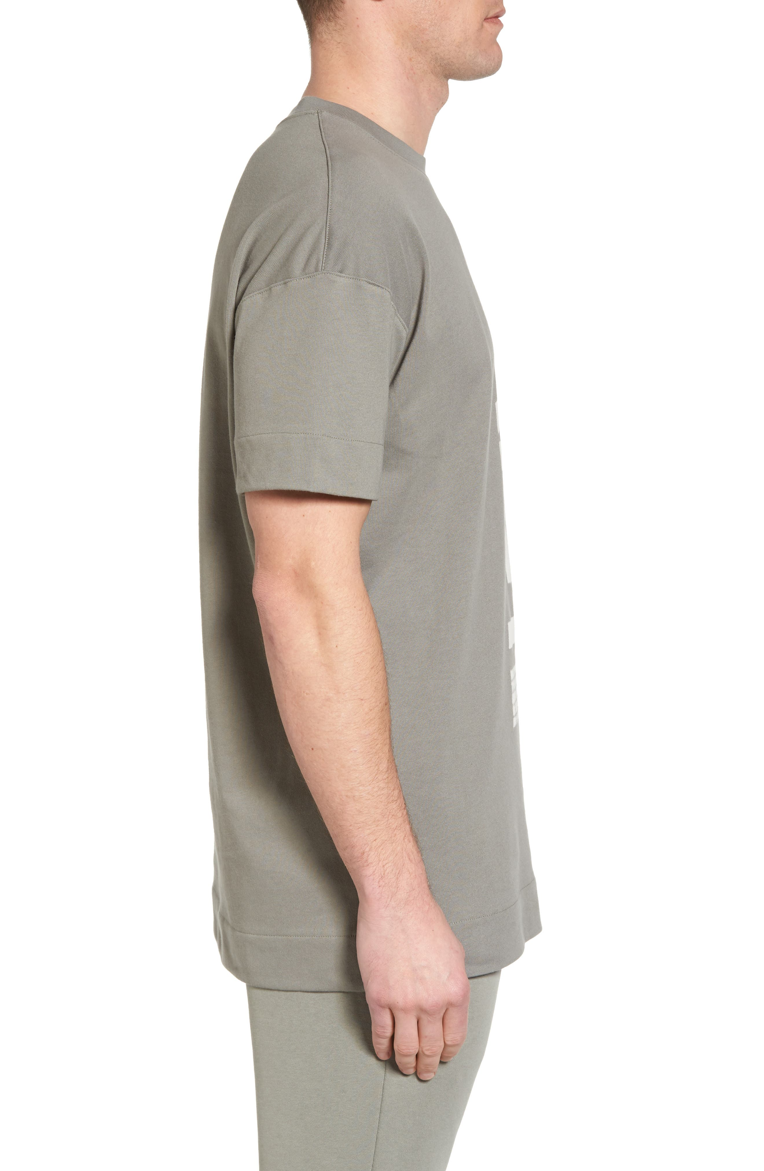 NSW Heavyweight AF-1 T-Shirt,                             Alternate thumbnail 3, color,                             Neutral Olive/ Medium Olive