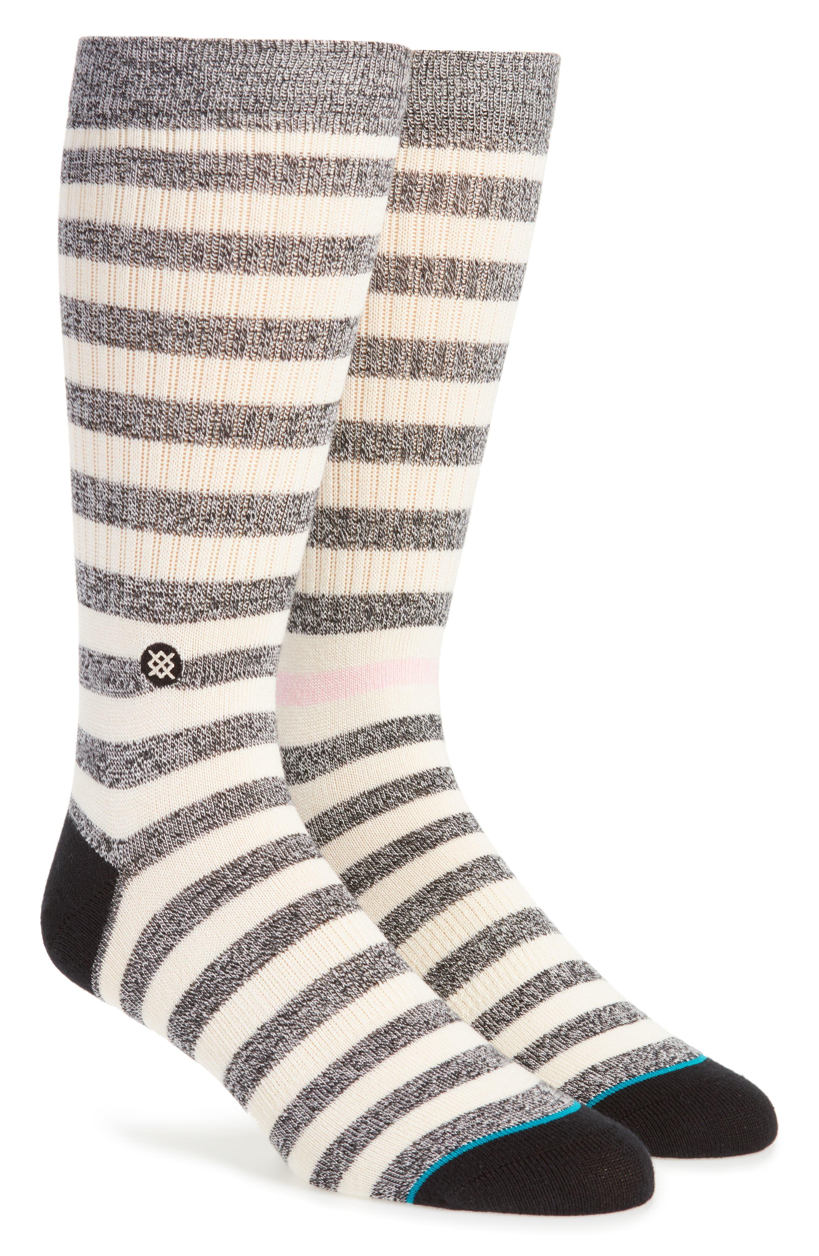 Honey Stripe Socks,                             Main thumbnail 1, color,                             Black