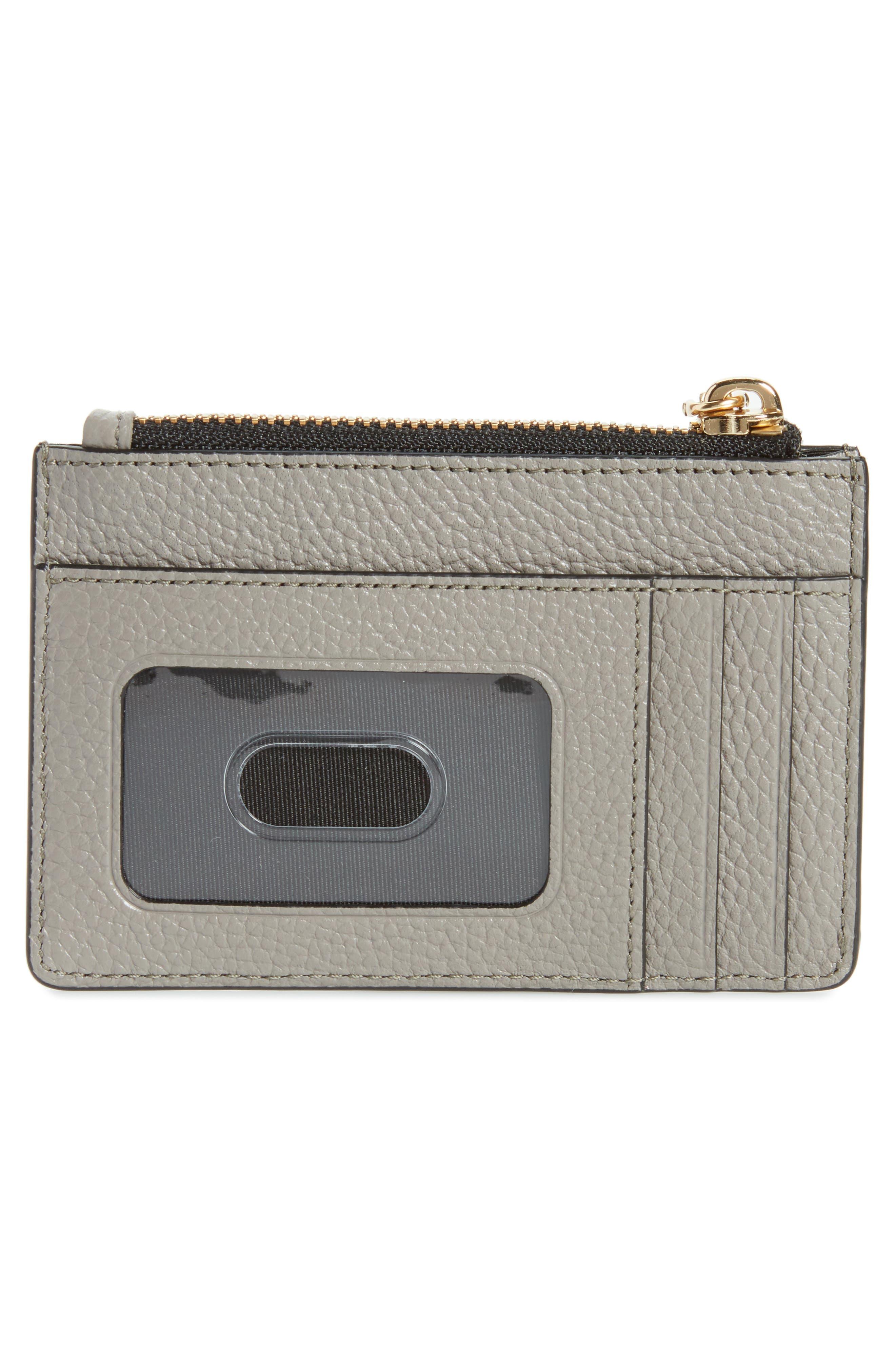 Gotham Leather Wallet,                             Alternate thumbnail 4, color,                             Stone Grey