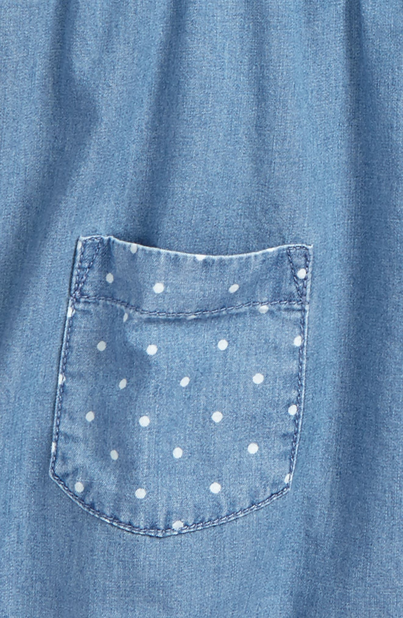 Chambray Tunic,                             Alternate thumbnail 2, color,                             Chambray Mch