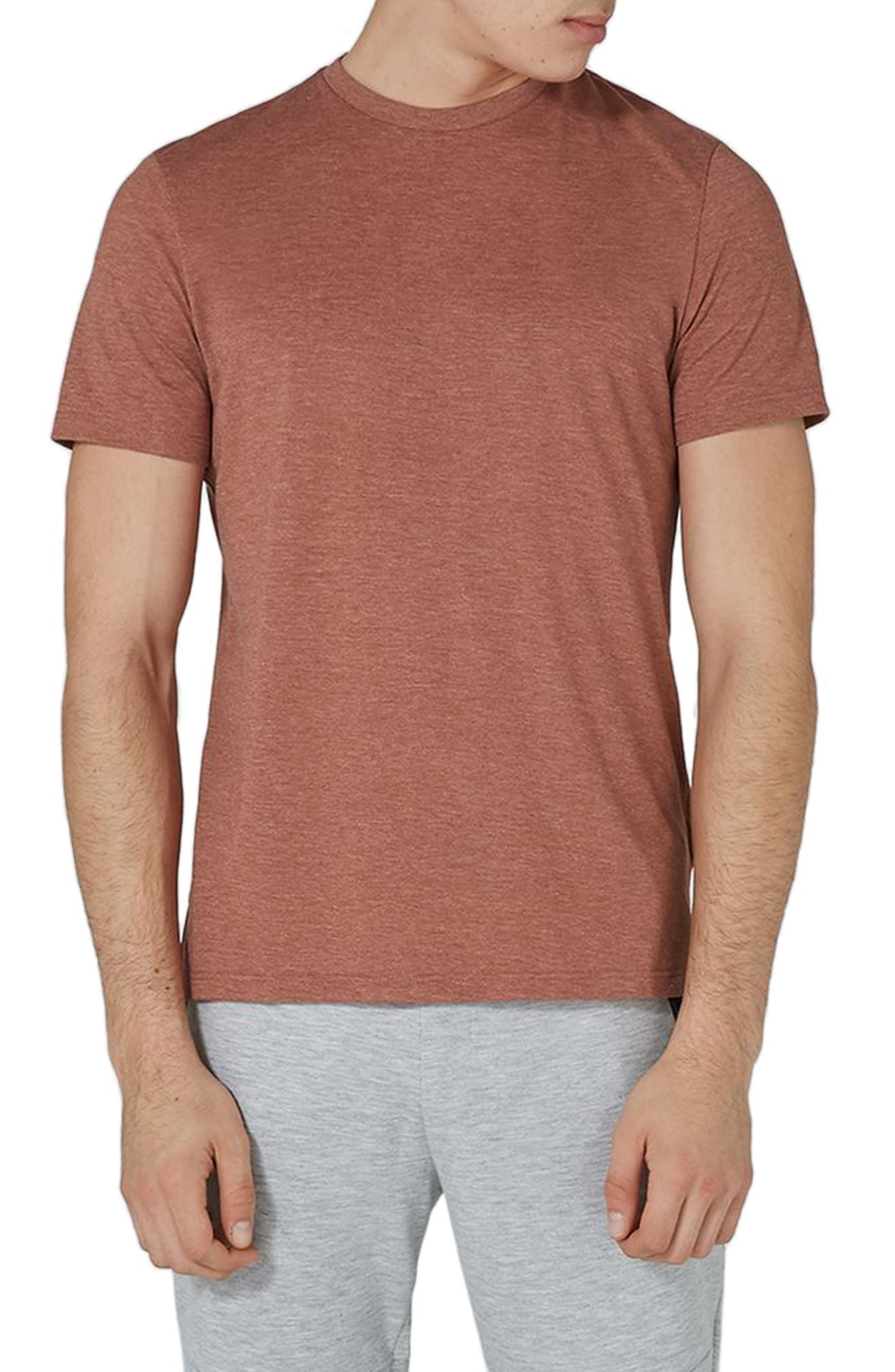 Slim Fit Crewneck T-Shirt,                         Main,                         color, Rust Orange