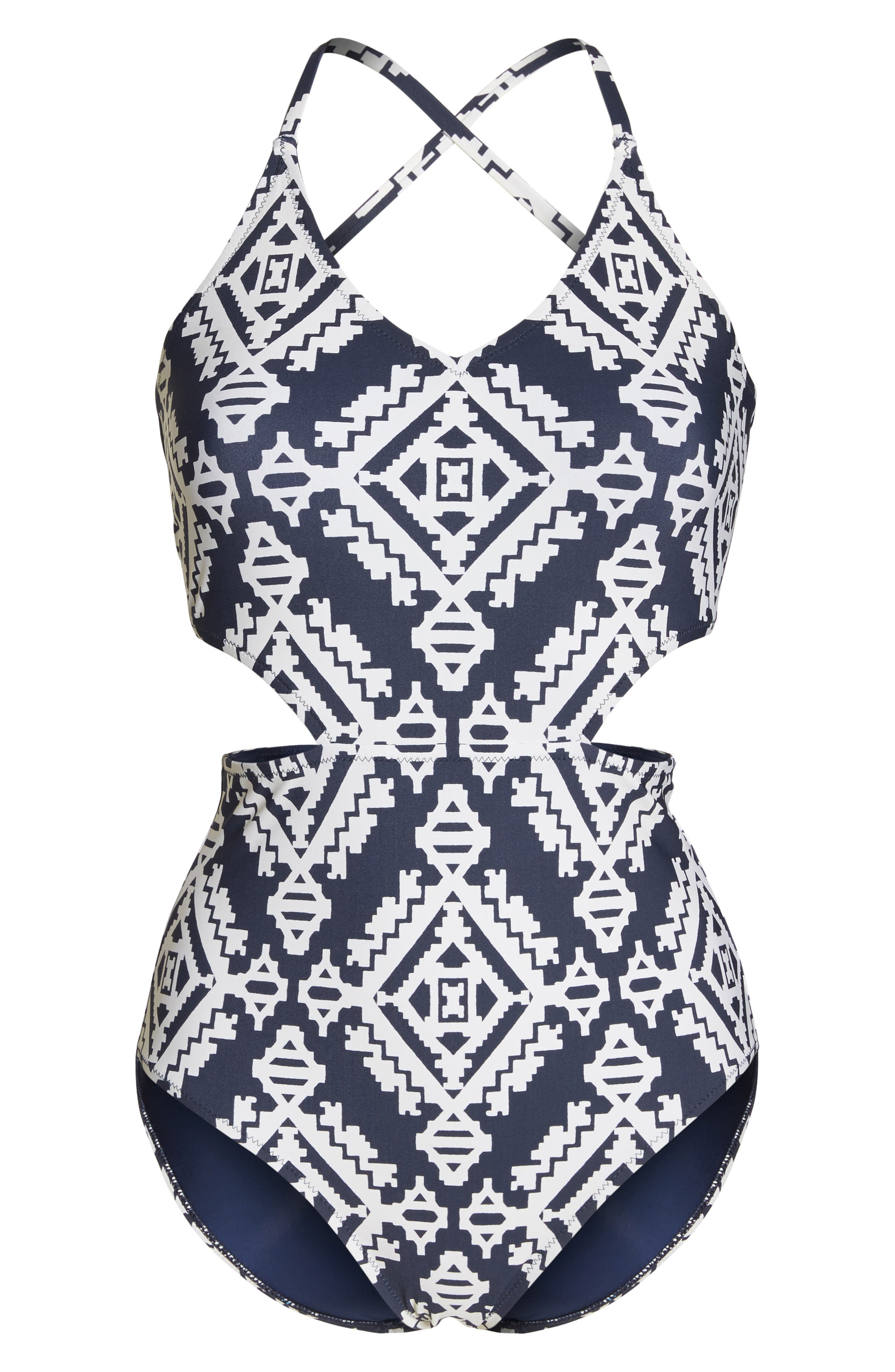 Cutout One-Piece Swimsuit,                             Alternate thumbnail 6, color,                             Tapestry Geo