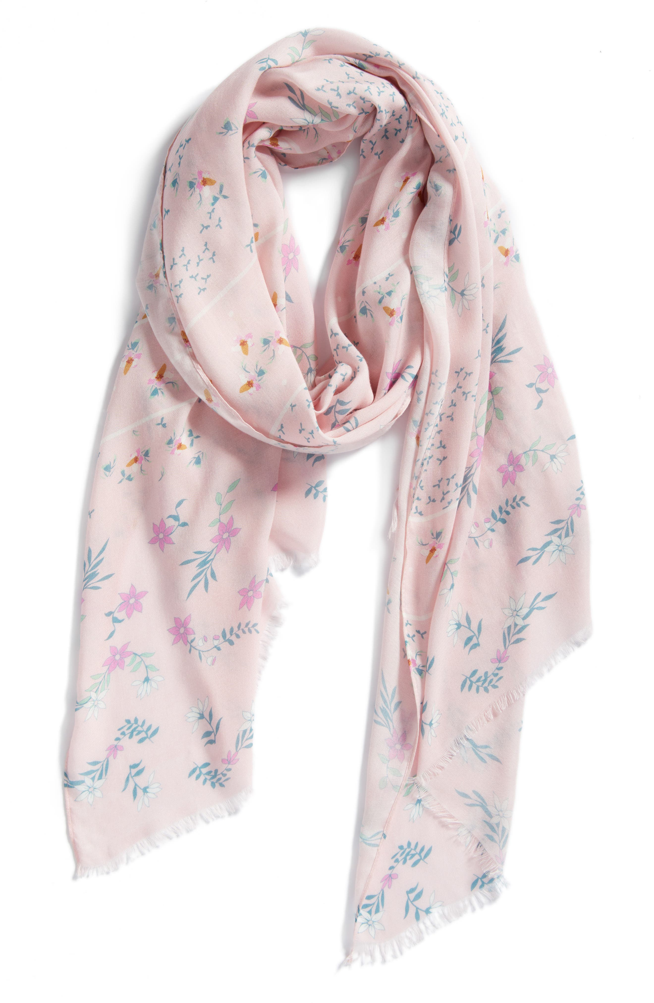 Twilight Floral Scarf,                             Alternate thumbnail 2, color,                             Pink