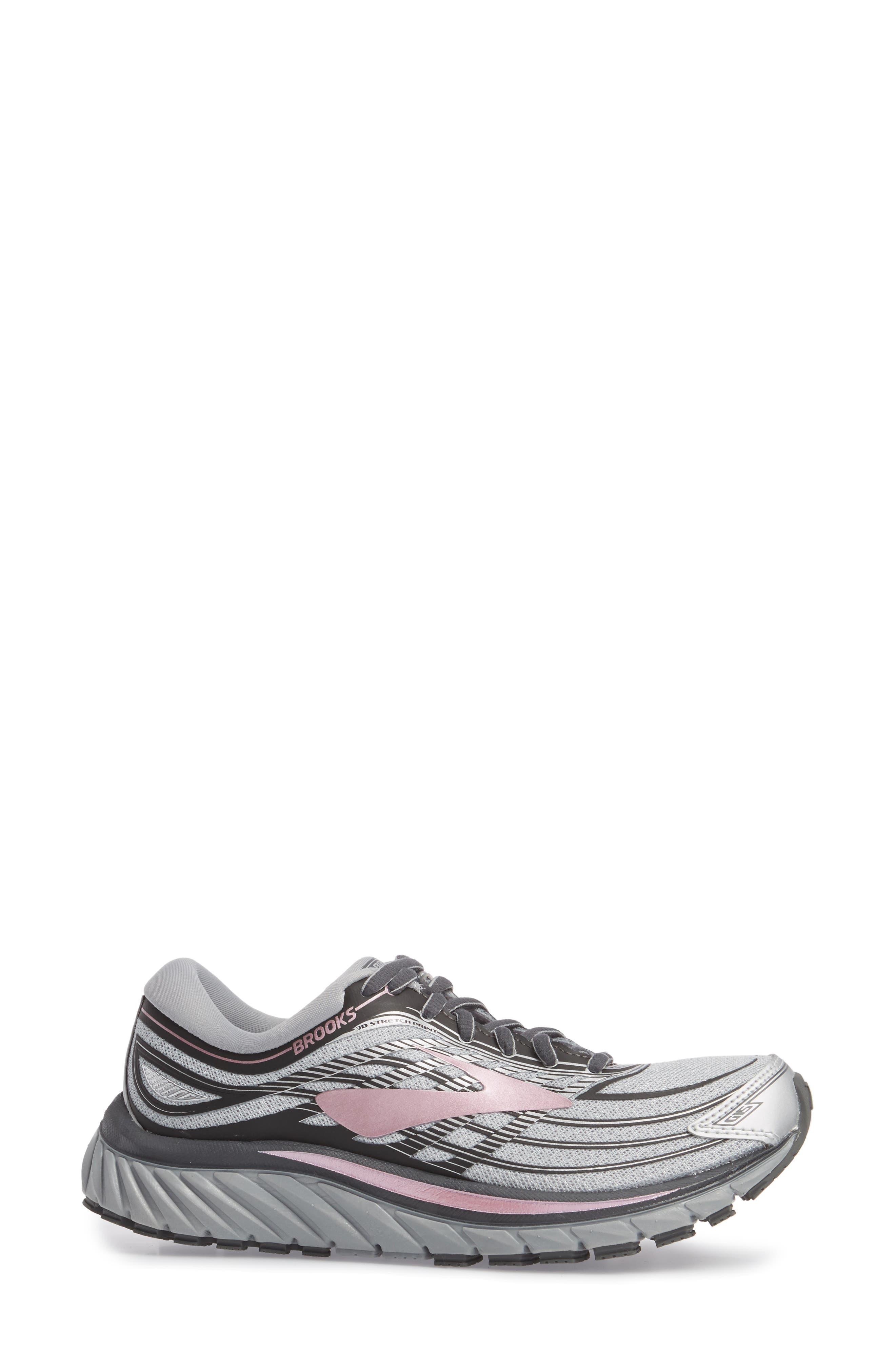Glycerin 15 Running Shoe,                             Alternate thumbnail 3, color,                             Silver/ Grey/ Rose