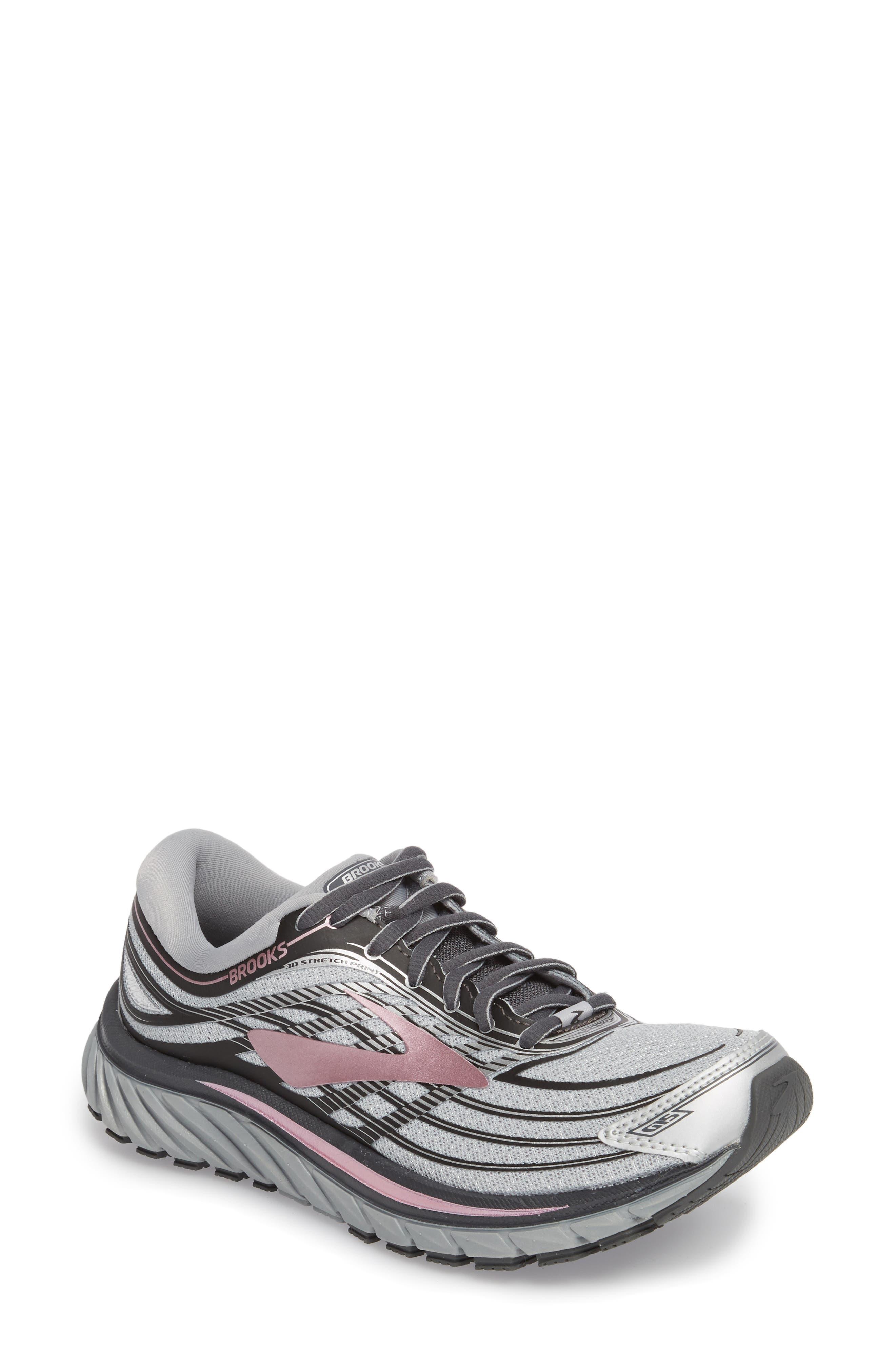 Glycerin 15 Running Shoe,                             Main thumbnail 1, color,                             Silver/ Grey/ Rose