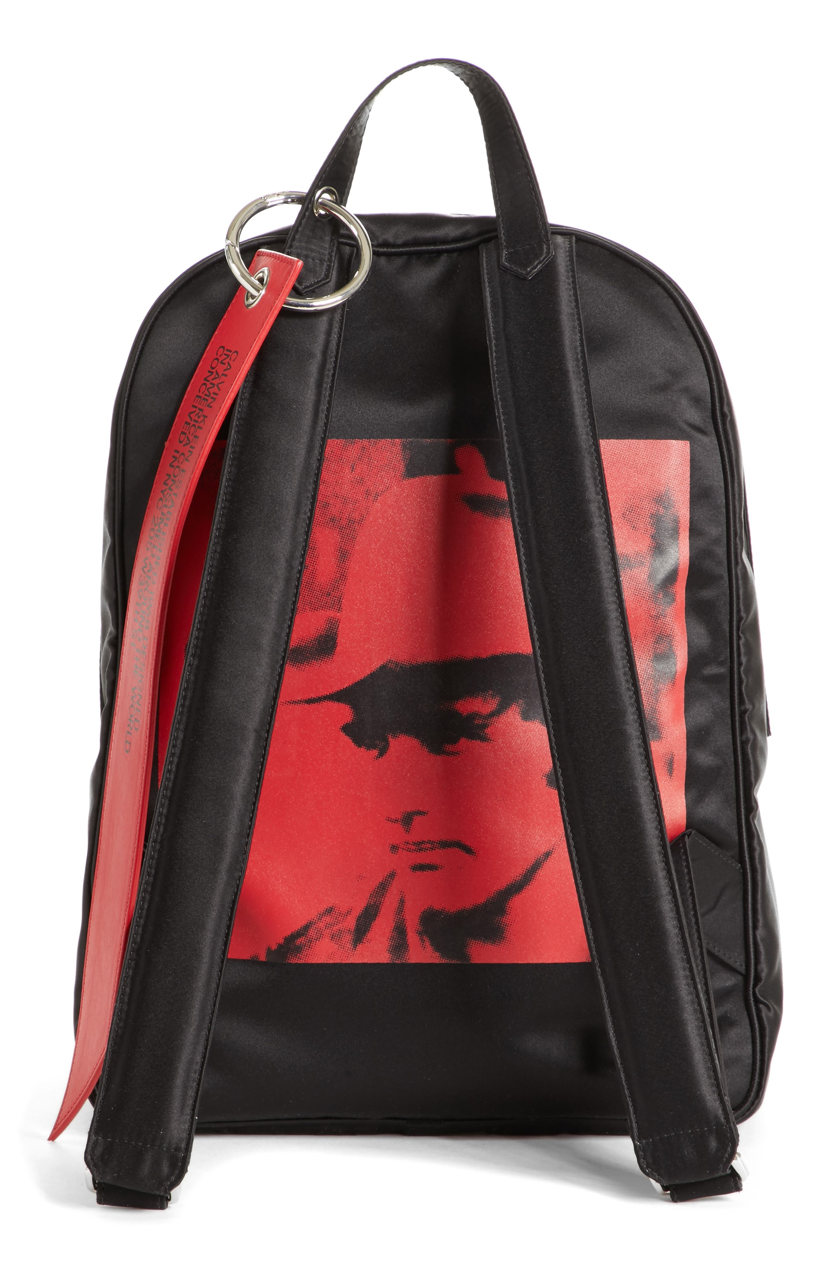 x Andy Warhol Foundation Nylon Backpack,                             Alternate thumbnail 3, color,                             Black/ Red/ Black