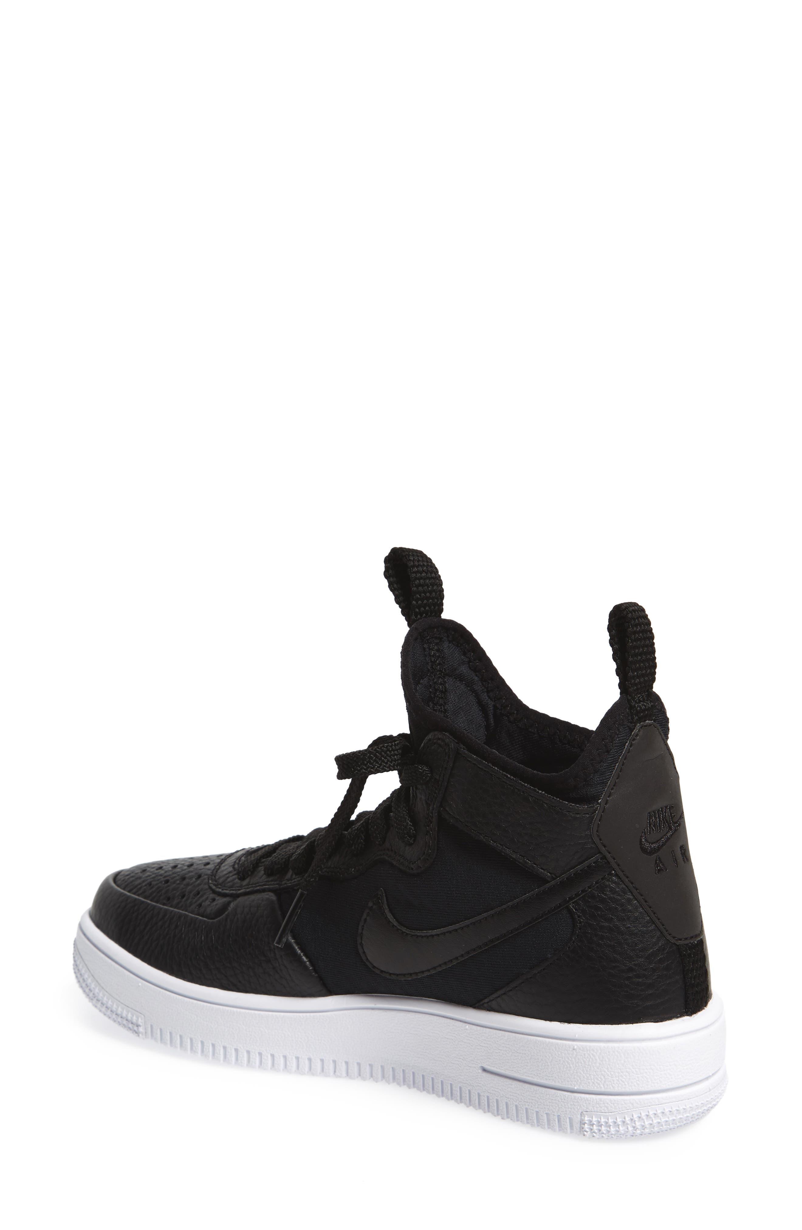Air Force 1 Ultraforce Mid Sneaker,                             Alternate thumbnail 2, color,                             Black/ Black