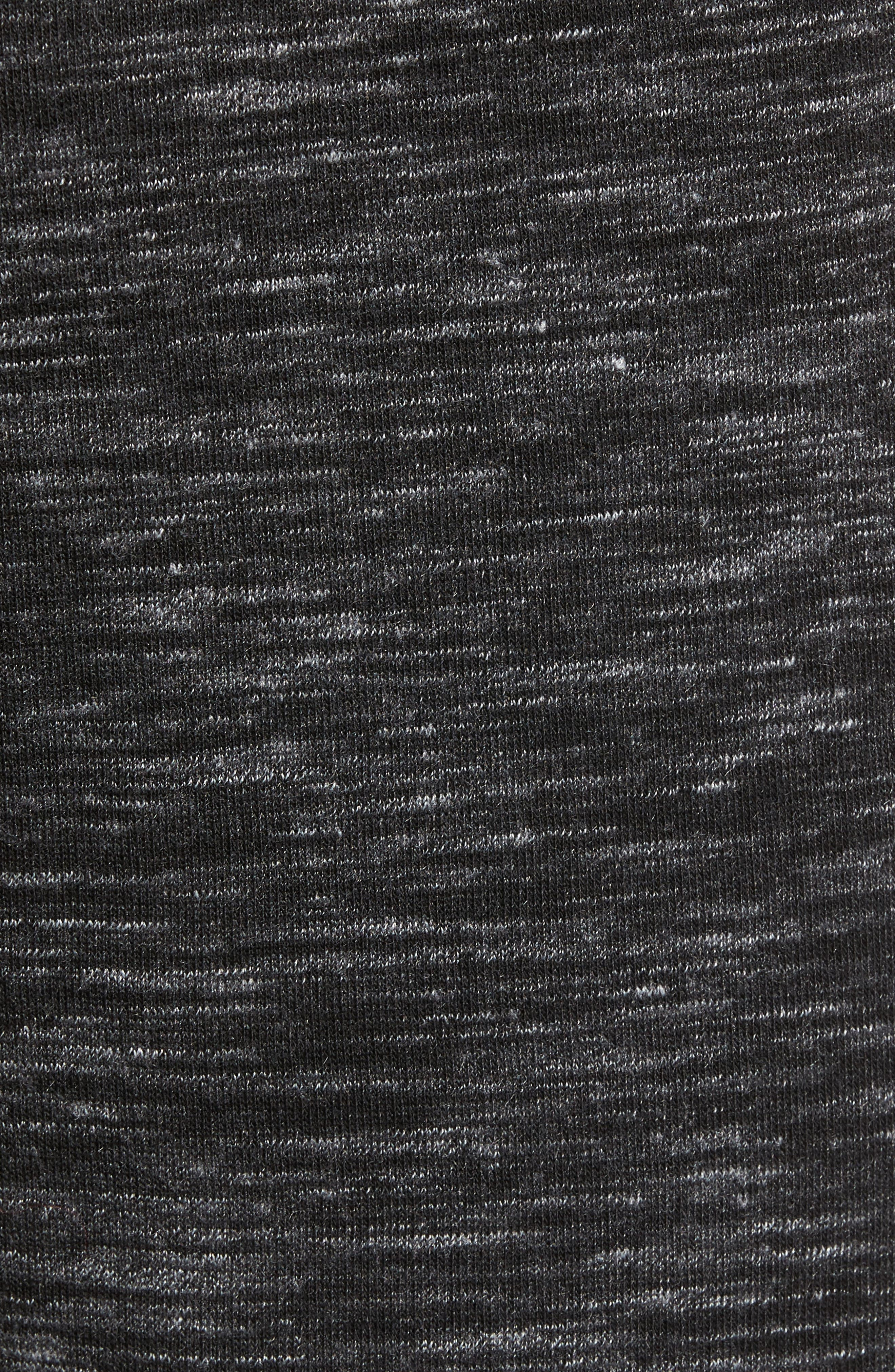 Neptune Terrycloth Shorts,                             Alternate thumbnail 5, color,                             Black Oxide Melange