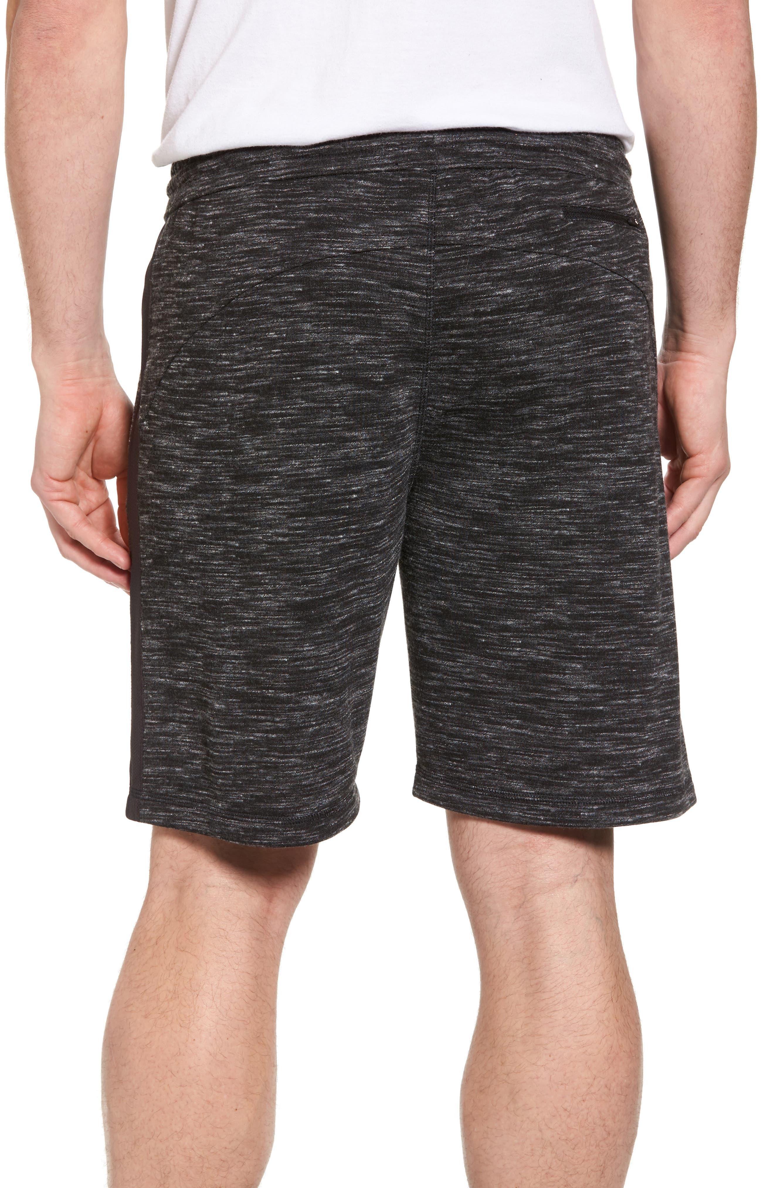 Neptune Terrycloth Shorts,                             Alternate thumbnail 2, color,                             Black Oxide Melange