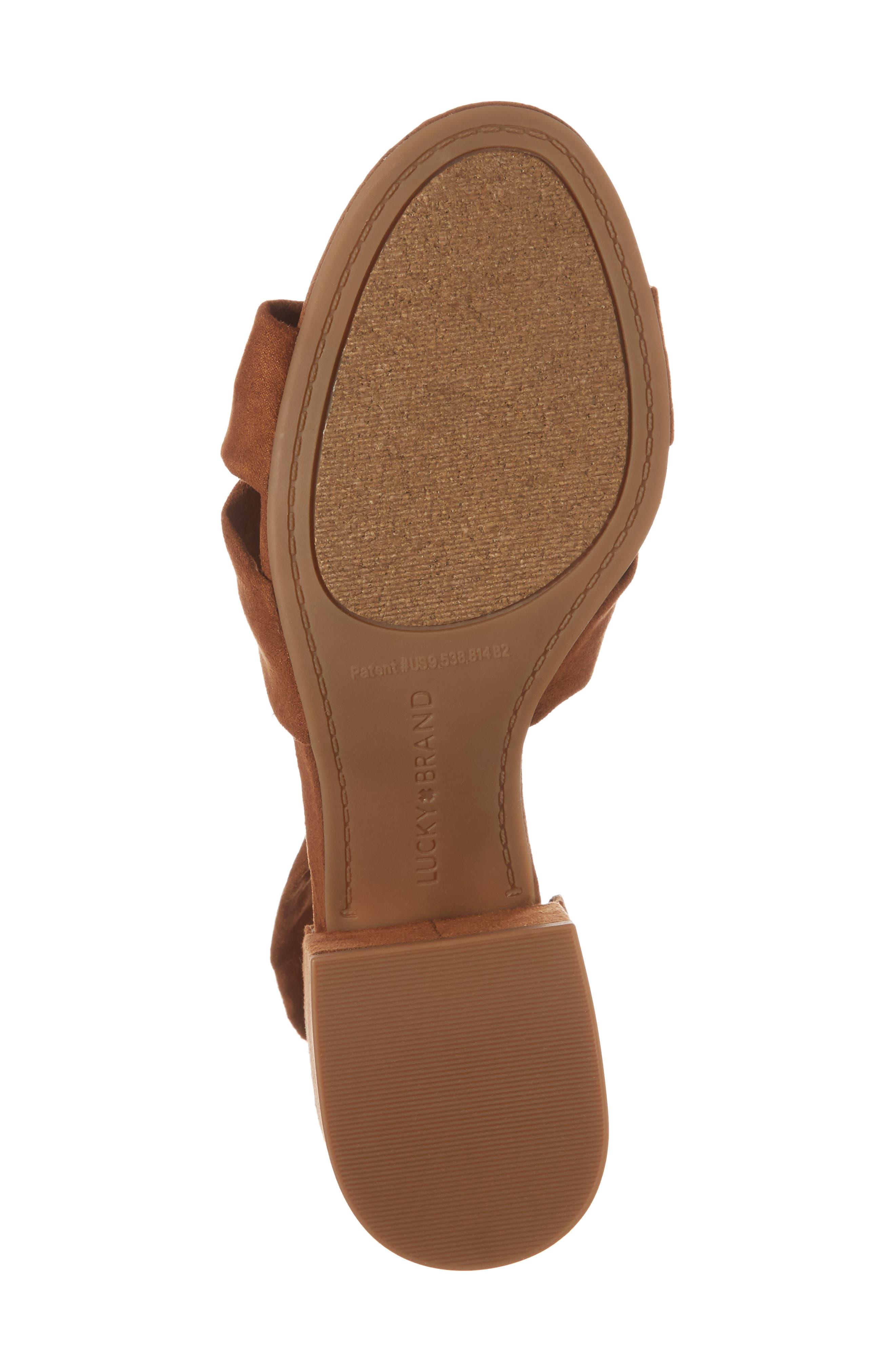 Xaylah Ankle Strap Sandal,                             Alternate thumbnail 6, color,                             Cedar Leather